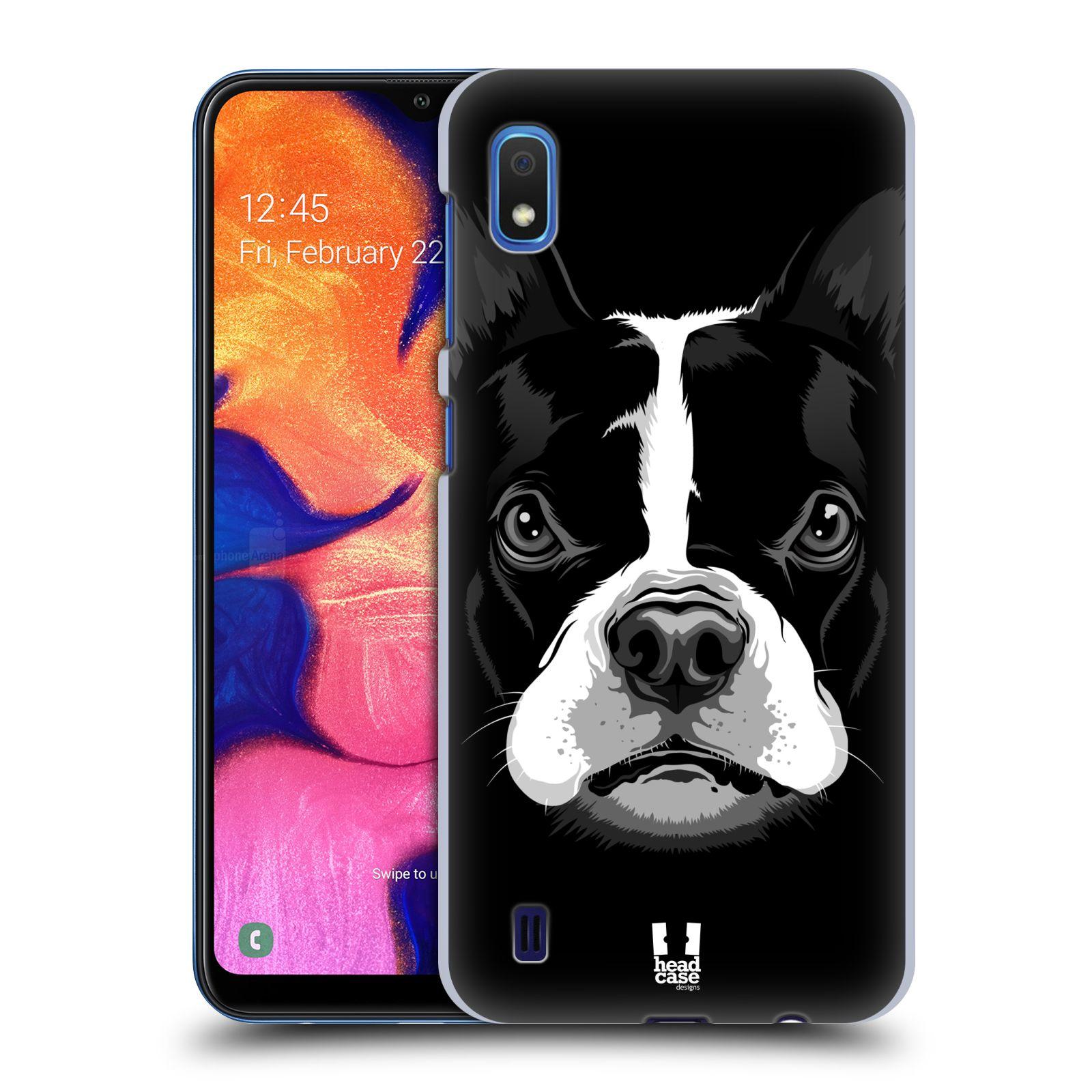 Plastové pouzdro na mobil Samsung Galaxy A10 - Head Case - ILUSTROVANÝ BULDOČEK