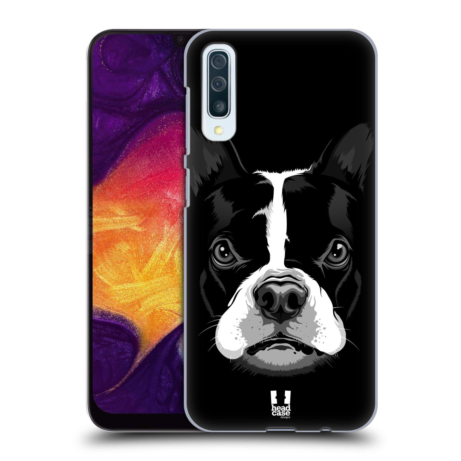 Plastové pouzdro na mobil Samsung Galaxy A50 - Head Case - ILUSTROVANÝ BULDOČEK