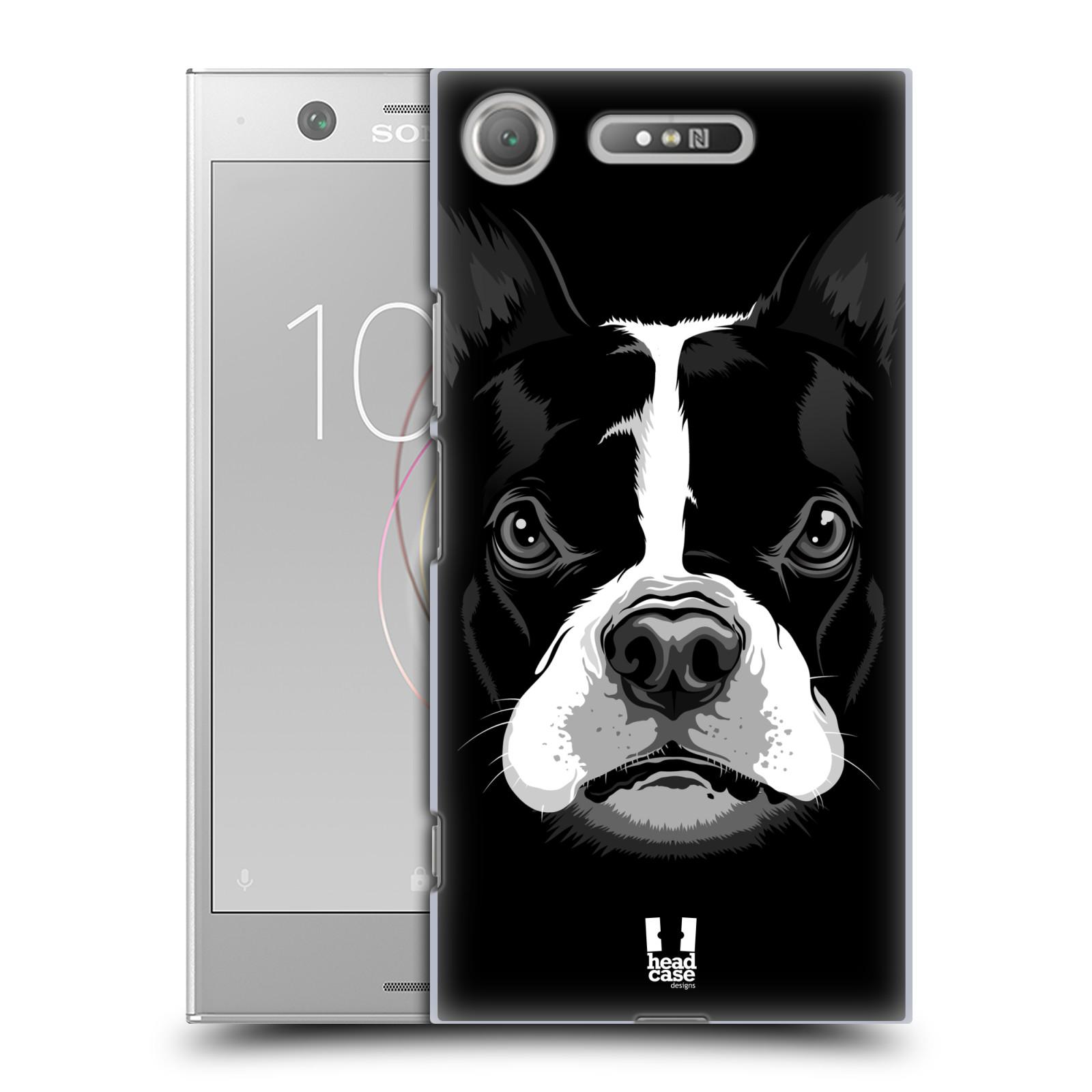 Plastové pouzdro na mobil Sony Xperia XZ1 - Head Case - ILUSTROVANÝ BULDOČEK