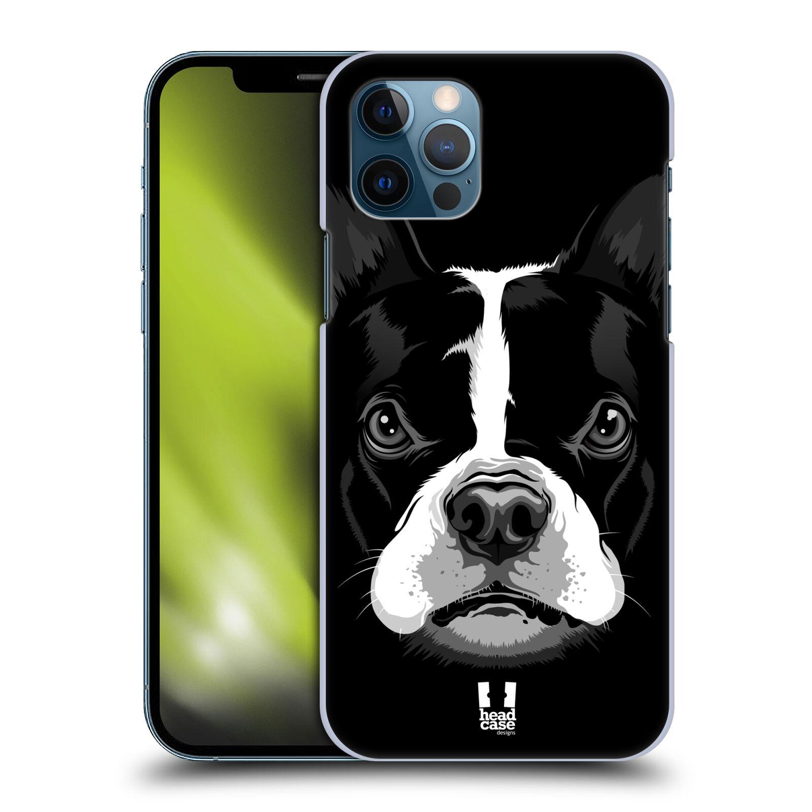 Plastové pouzdro na mobil Apple iPhone 12 / 12 Pro - Head Case - ILUSTROVANÝ BULDOČEK