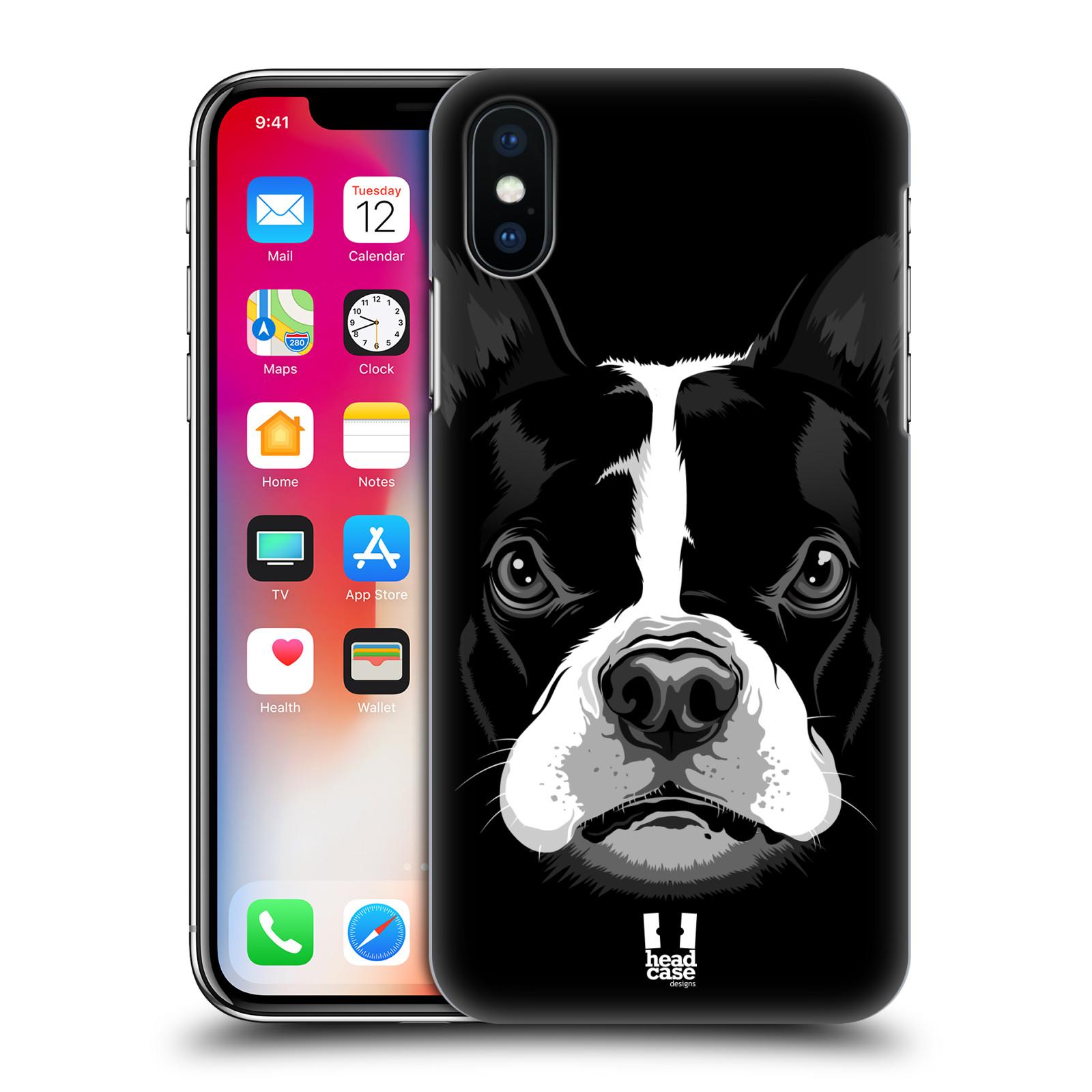Plastové pouzdro na mobil Apple iPhone X - Head Case - ILUSTROVANÝ BULDOČEK