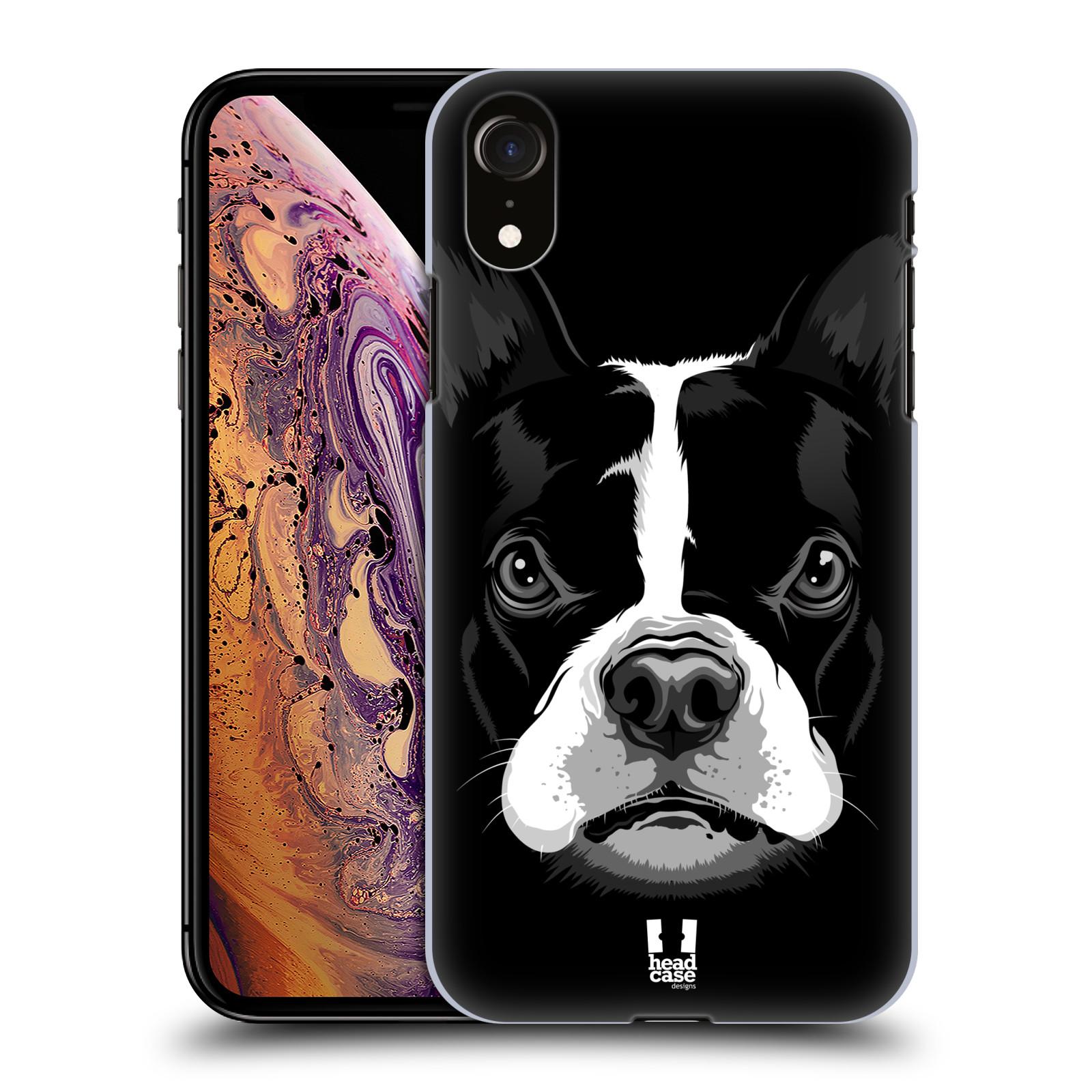 Plastové pouzdro na mobil Apple iPhone XR - Head Case - ILUSTROVANÝ BULDOČEK