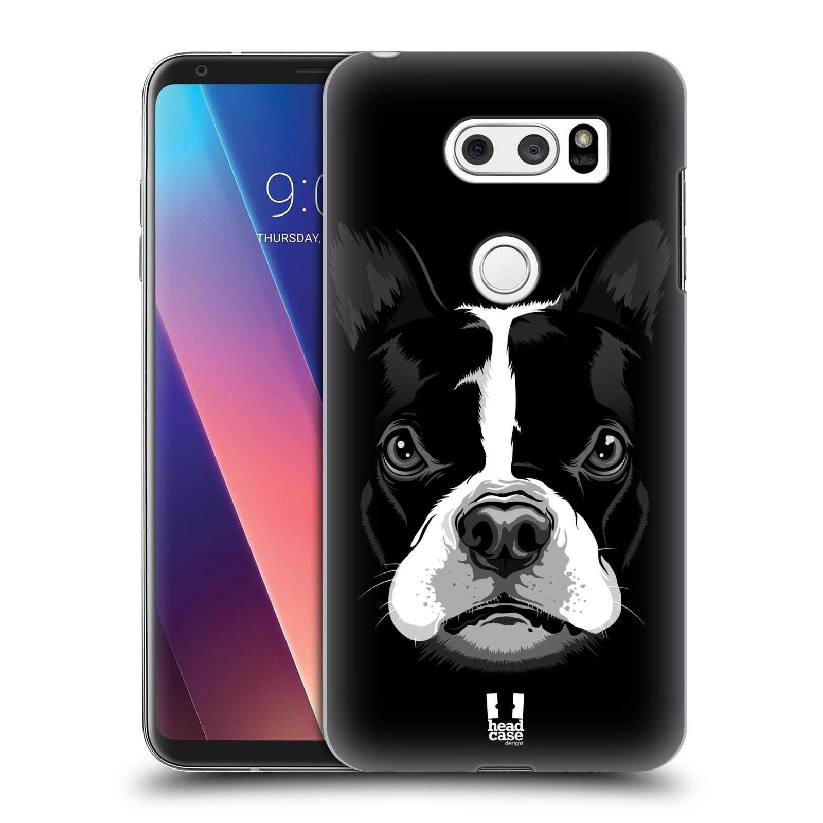 Plastové pouzdro na mobil LG V30 - Head Case - ILUSTROVANÝ BULDOČEK