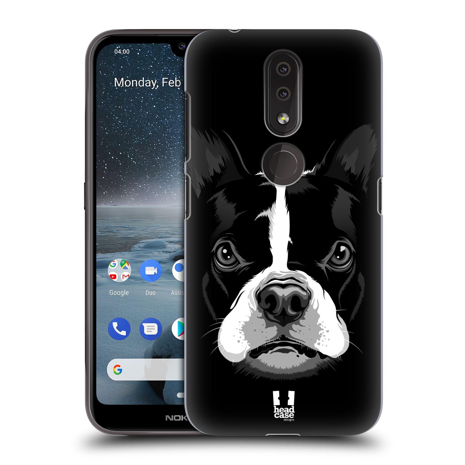 Plastové pouzdro na mobil Nokia 4.2 - Head Case - ILUSTROVANÝ BULDOČEK