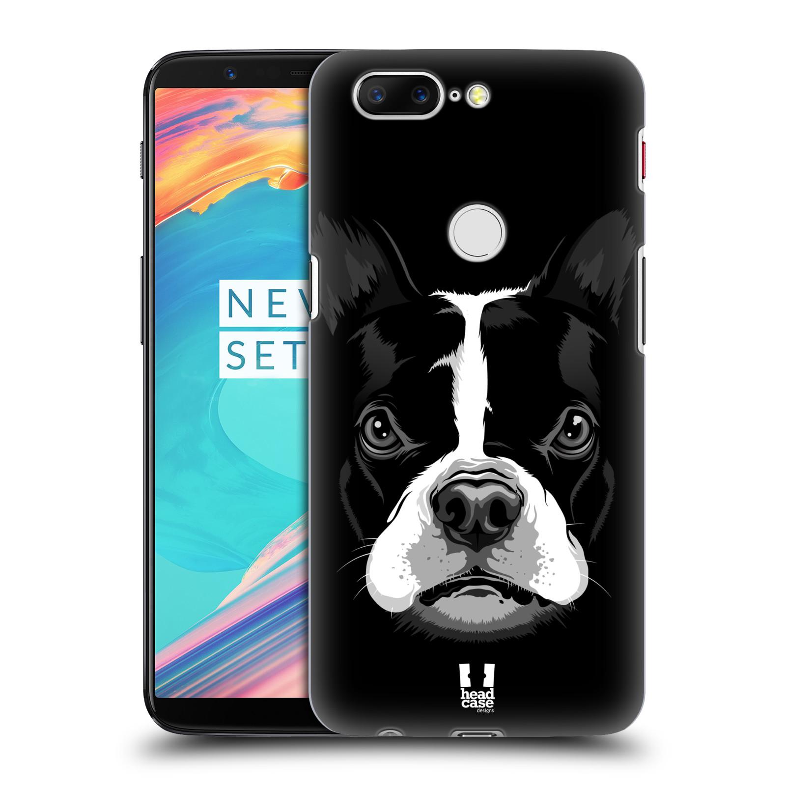 Plastové pouzdro na mobil OnePlus 5T - Head Case - ILUSTROVANÝ BULDOČEK