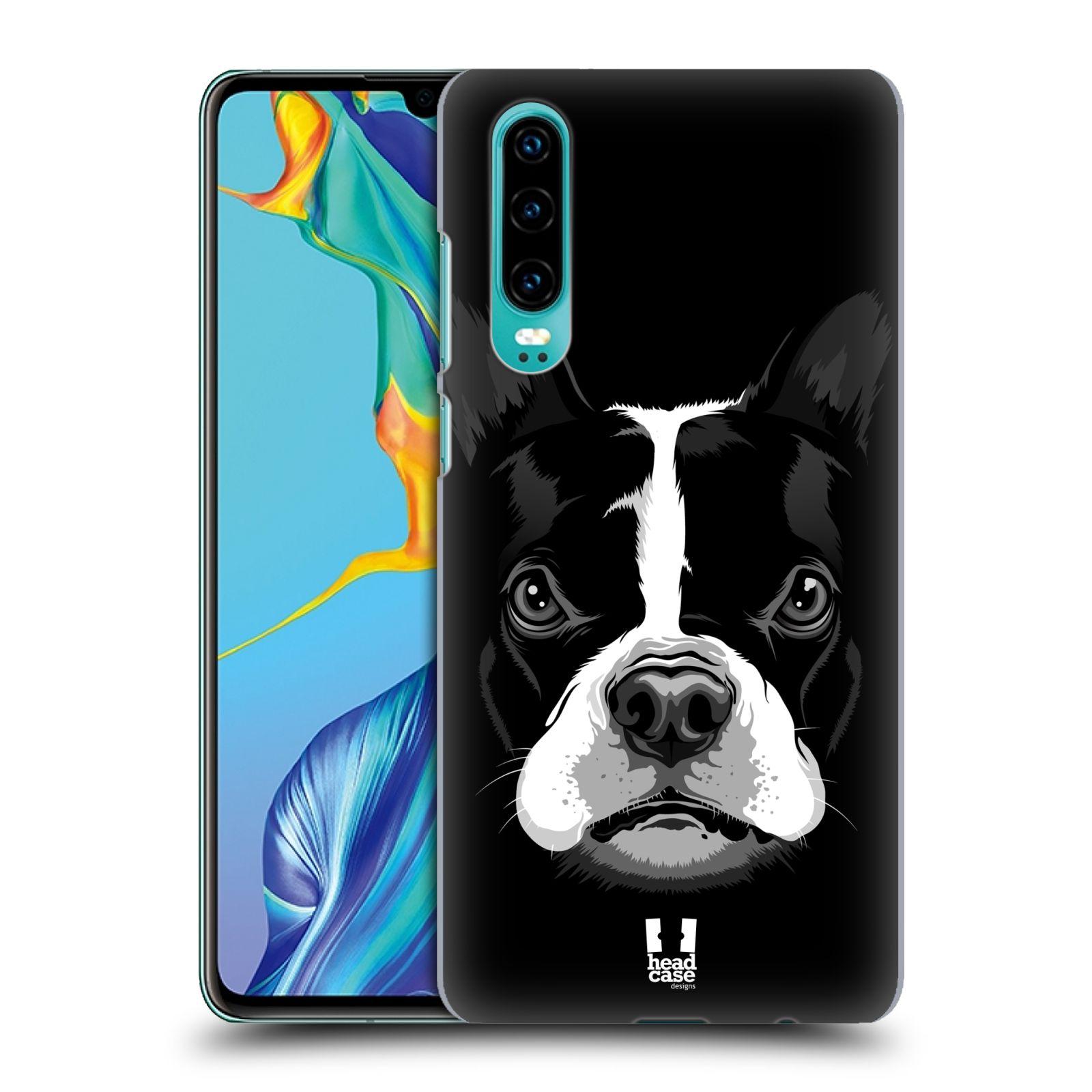 Plastové pouzdro na mobil Huawei P30 - Head Case - ILUSTROVANÝ BULDOČEK