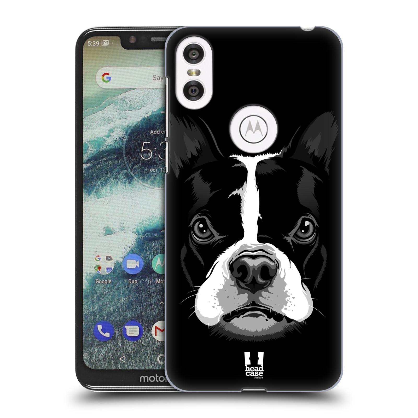 Plastové pouzdro na mobil Motorola One - Head Case - ILUSTROVANÝ BULDOČEK