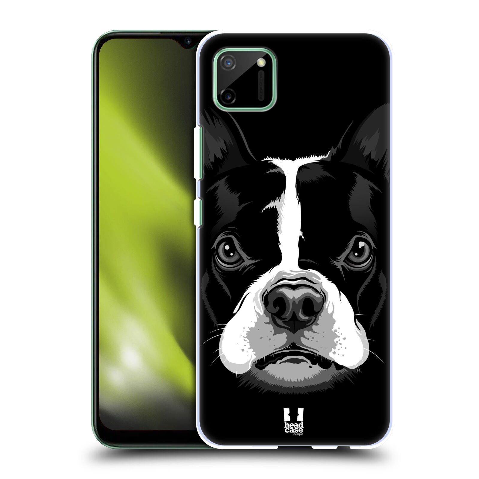 Plastové pouzdro na mobil Realme C11 - Head Case - ILUSTROVANÝ BULDOČEK