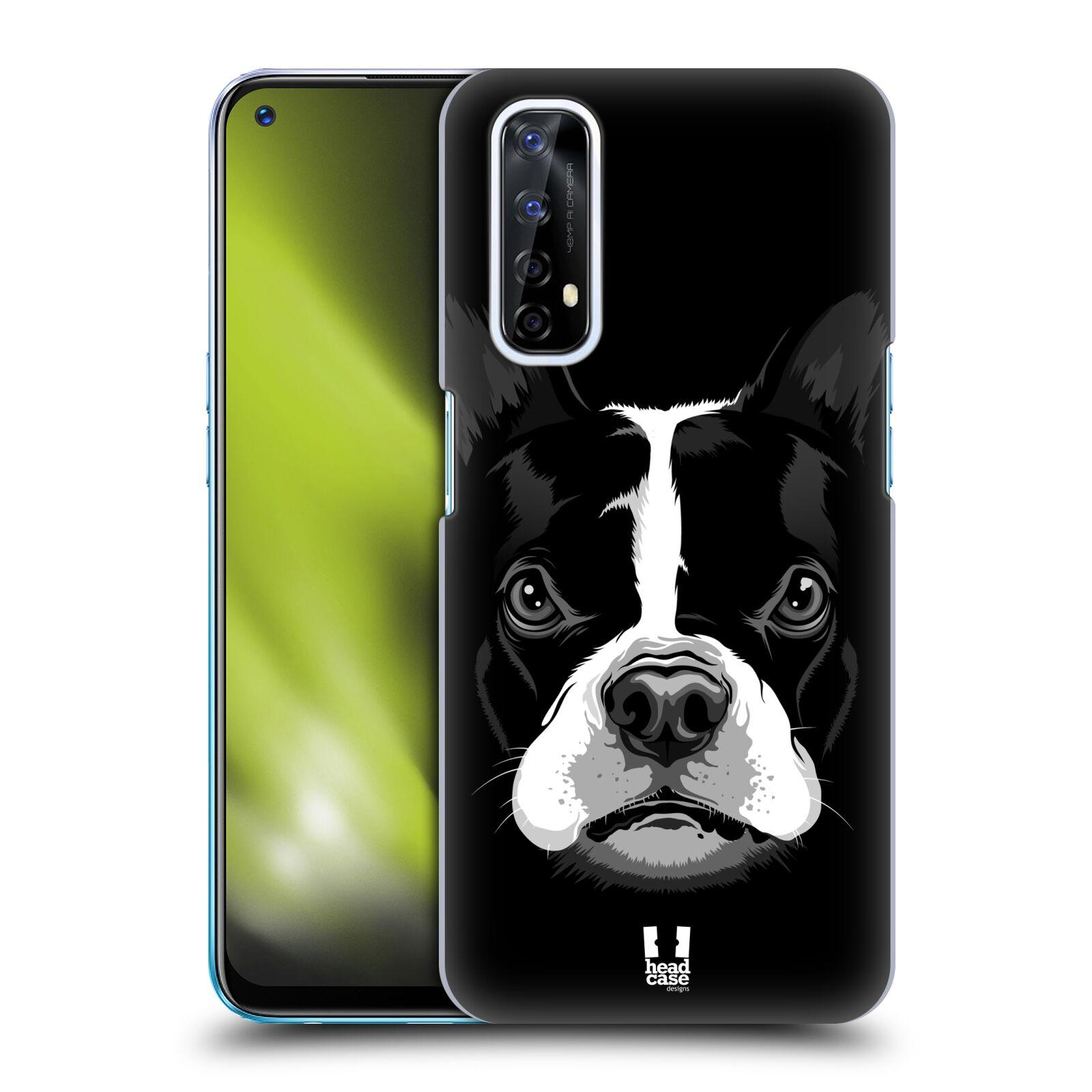 Plastové pouzdro na mobil Realme 7 - Head Case - ILUSTROVANÝ BULDOČEK