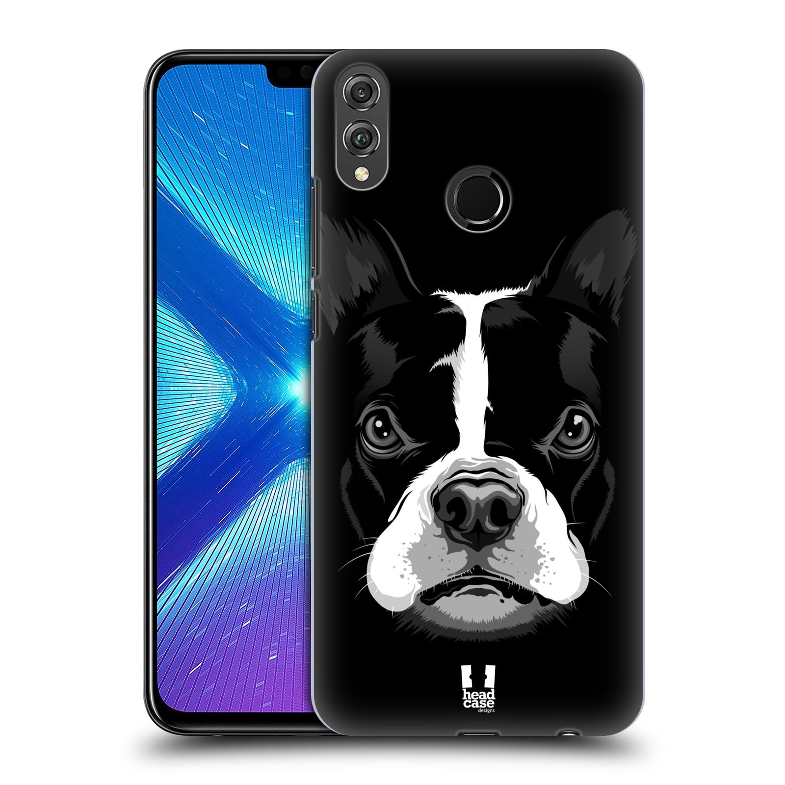 Plastové pouzdro na mobil Honor 8X - Head Case - ILUSTROVANÝ BULDOČEK