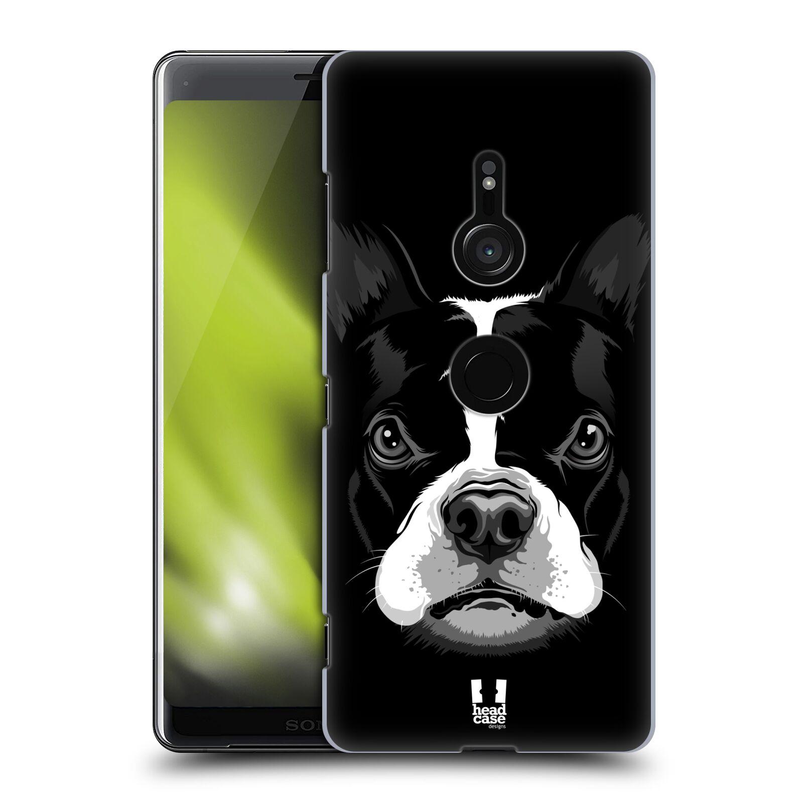 Plastové pouzdro na mobil Sony Xperia XZ3 - Head Case - ILUSTROVANÝ BULDOČEK
