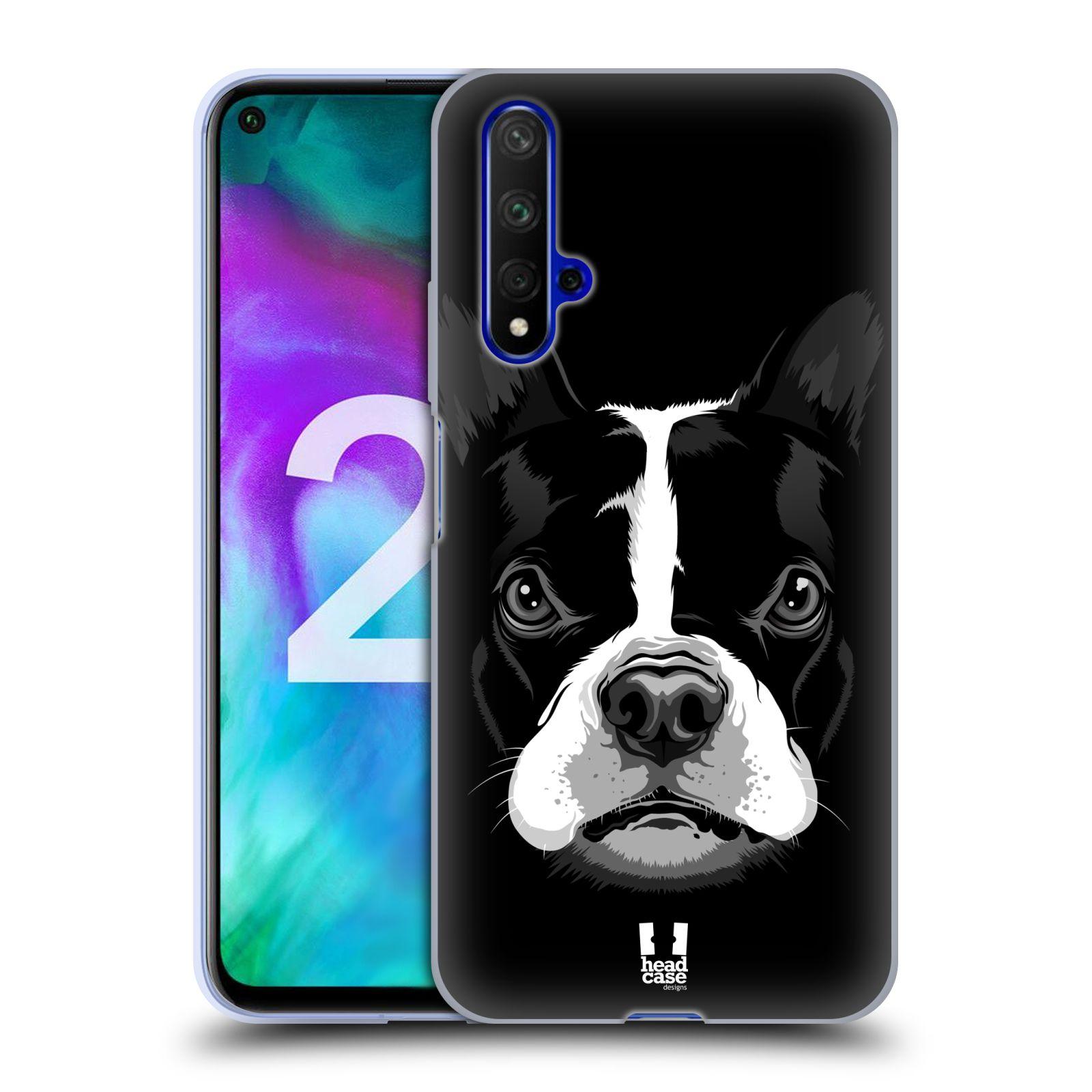 Silikonové pouzdro na mobil Honor 20 - Head Case - ILUSTROVANÝ BULDOČEK