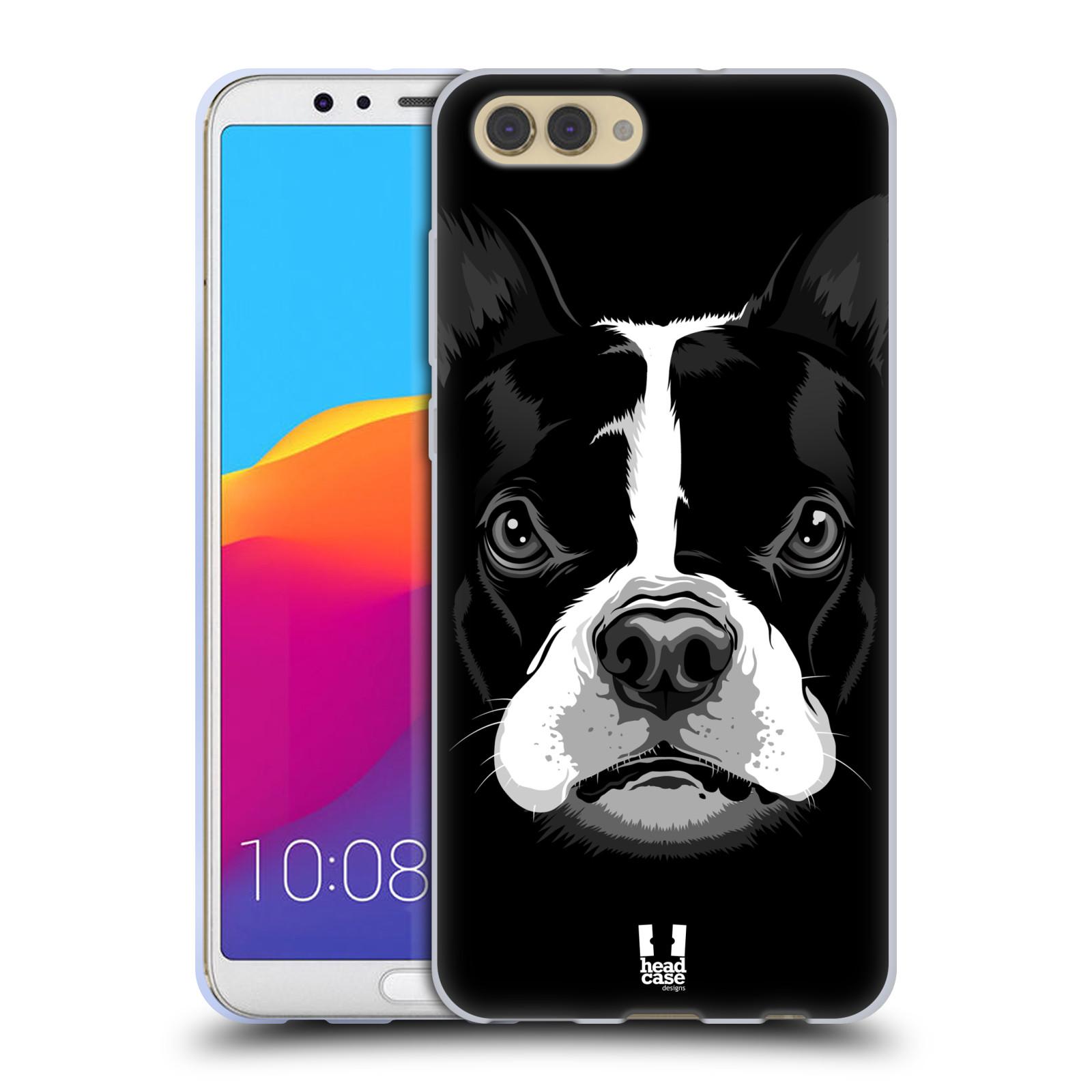 Silikonové pouzdro na mobil Honor View 10 - Head Case - ILUSTROVANÝ BULDOČEK