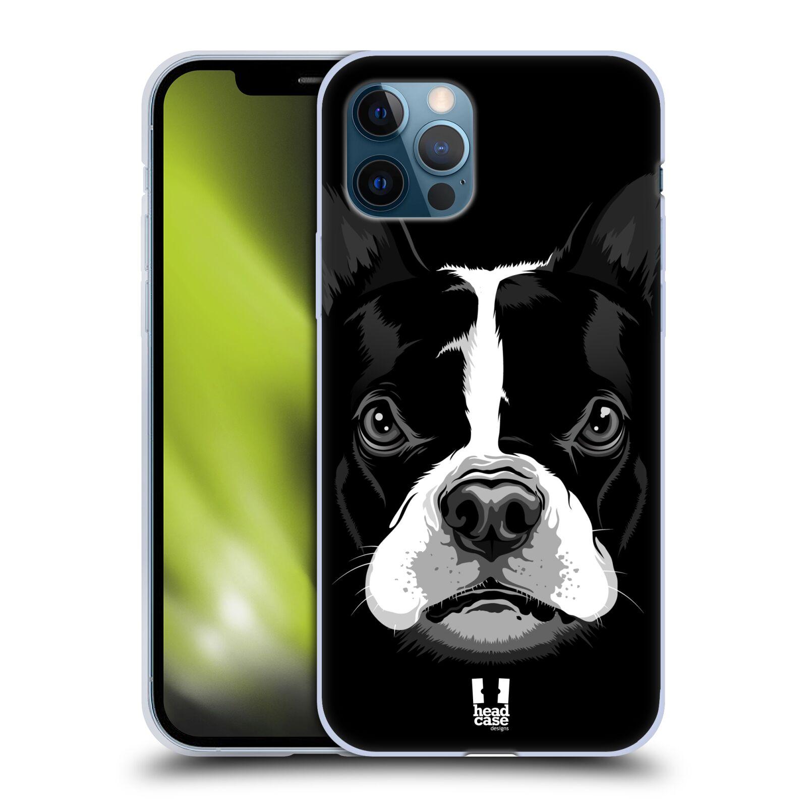 Silikonové pouzdro na mobil Apple iPhone 12 / 12 Pro - Head Case - ILUSTROVANÝ BULDOČEK