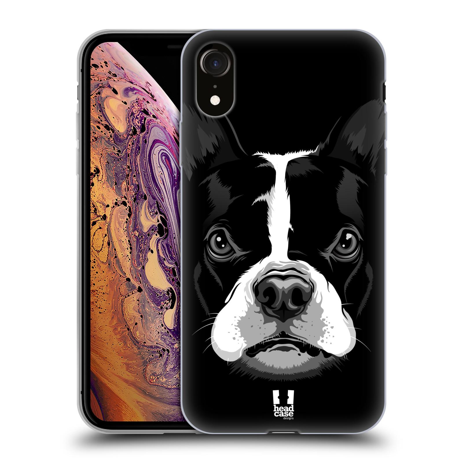 Silikonové pouzdro na mobil Apple iPhone XR - Head Case - ILUSTROVANÝ BULDOČEK