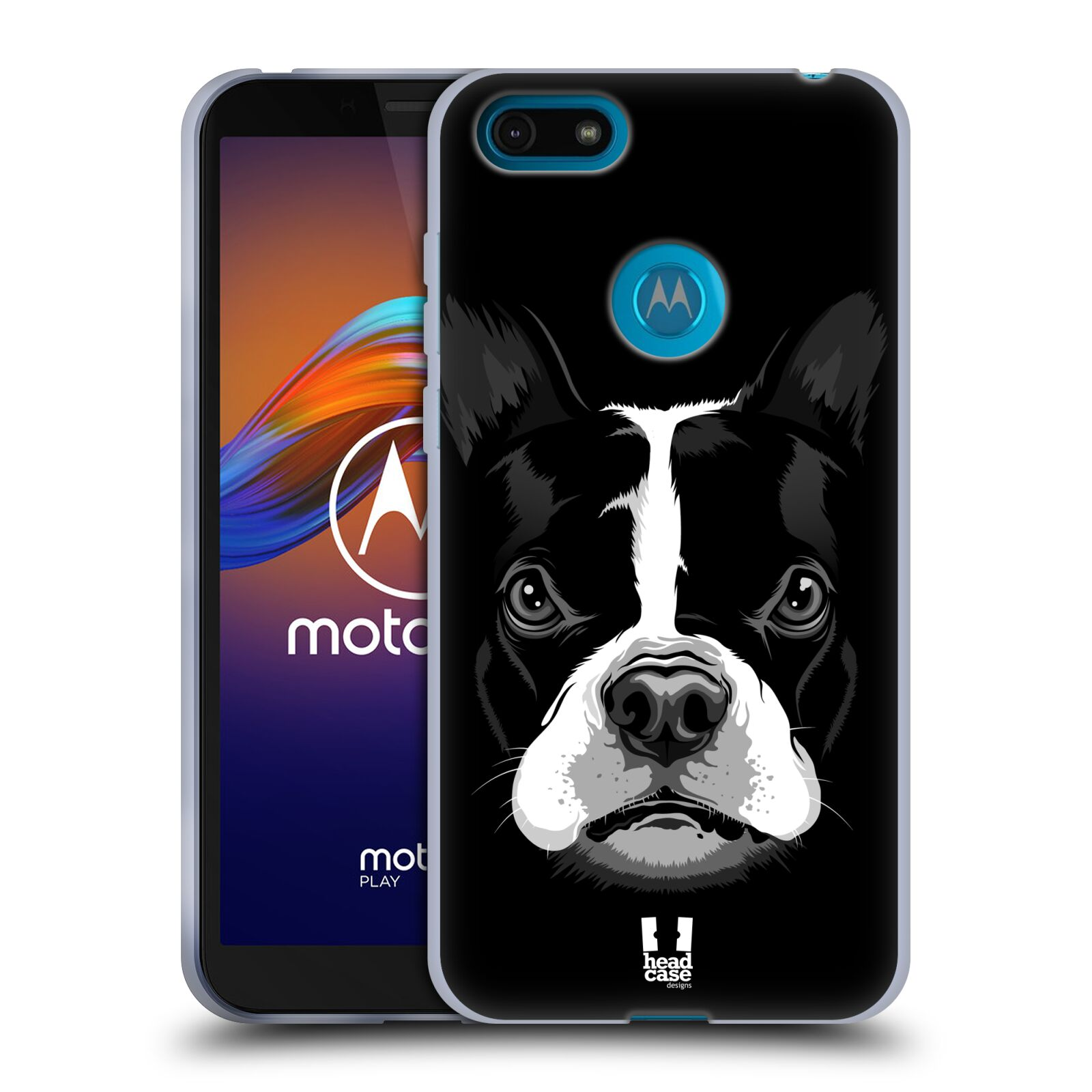 Silikonové pouzdro na mobil Motorola Moto E6 Play - Head Case - ILUSTROVANÝ BULDOČEK