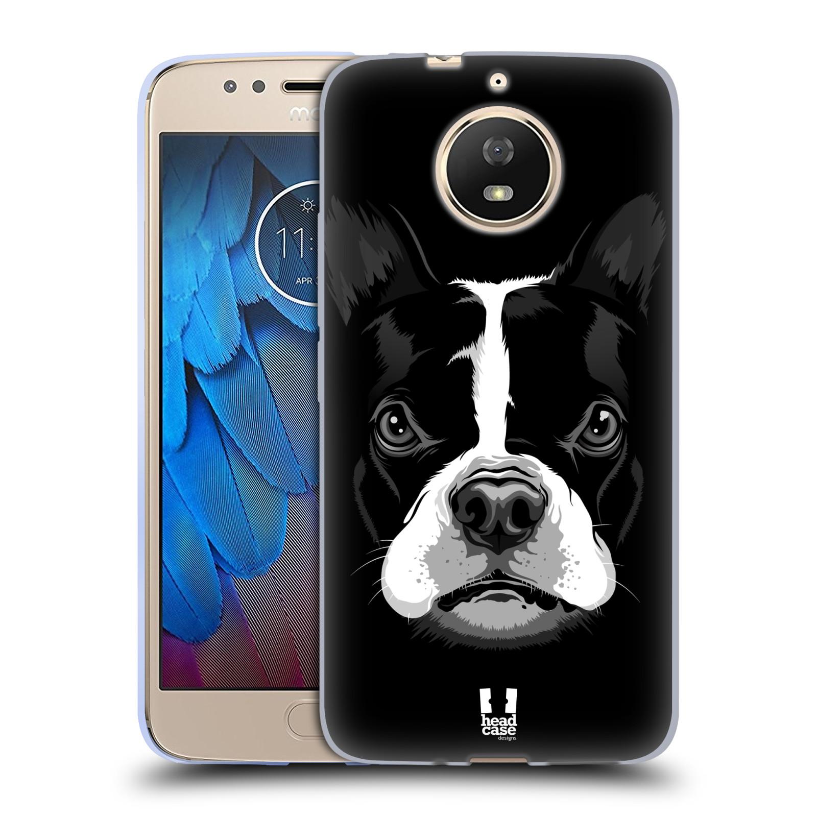 Silikonové pouzdro na mobil Lenovo Moto G5s - Head Case - ILUSTROVANÝ BULDOČEK