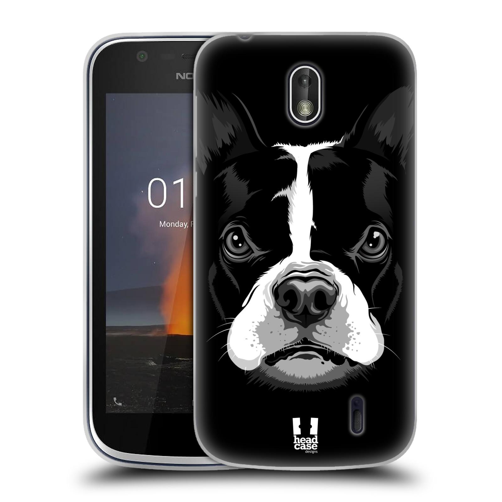 Silikonové pouzdro na mobil Nokia 1 - Head Case - ILUSTROVANÝ BULDOČEK