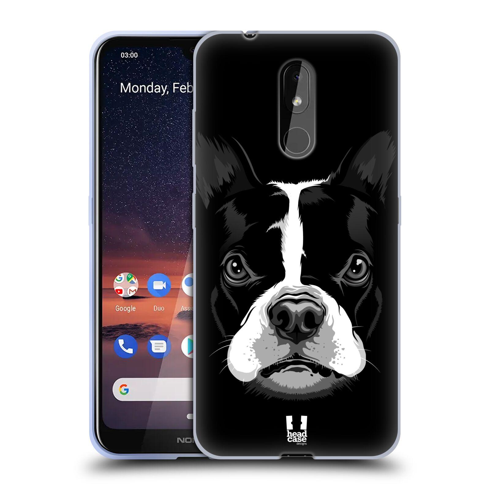 Silikonové pouzdro na mobil Nokia 3.2 - Head Case - ILUSTROVANÝ BULDOČEK