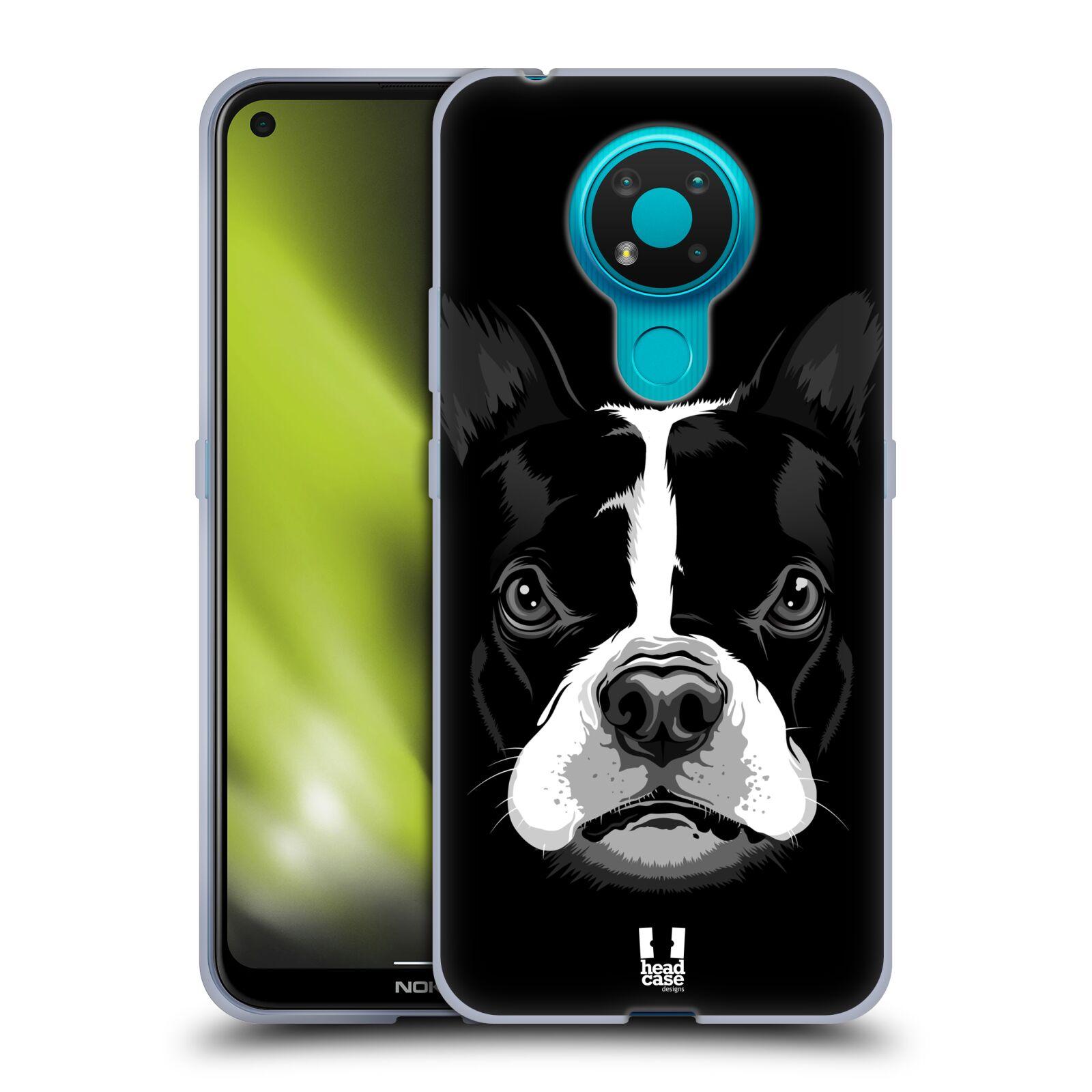 Silikonové pouzdro na mobil Nokia 3.4 - Head Case - ILUSTROVANÝ BULDOČEK
