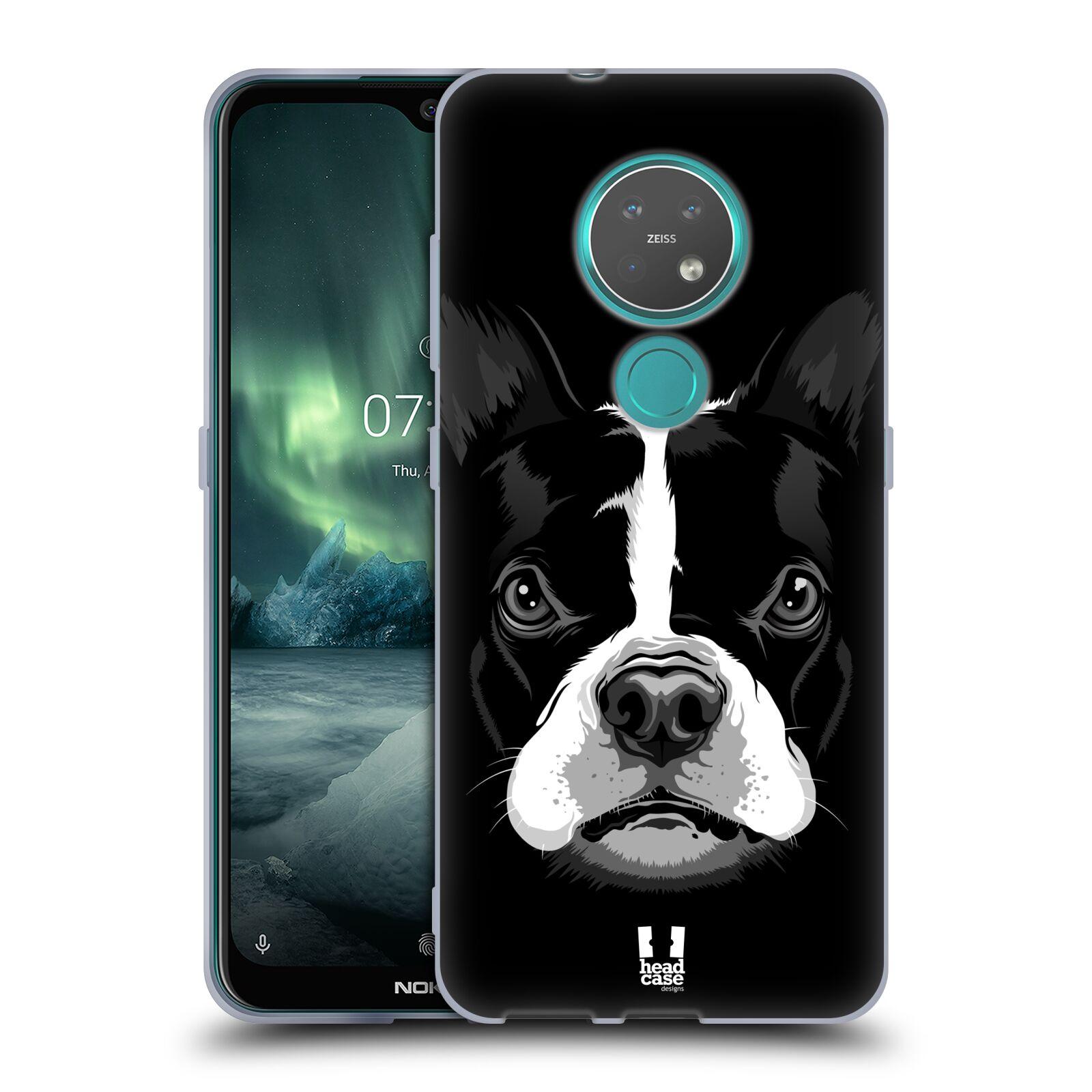 Silikonové pouzdro na mobil Nokia 7.2 - Head Case - ILUSTROVANÝ BULDOČEK