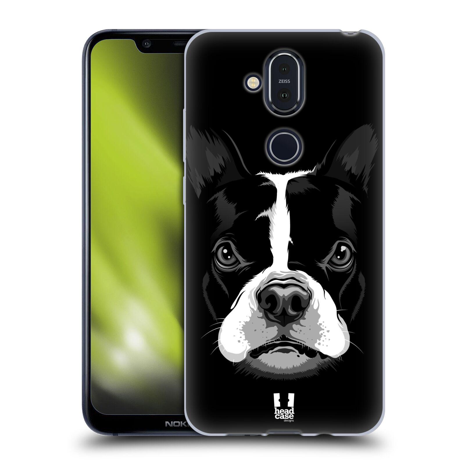 Silikonové pouzdro na mobil Nokia 8.1 - Head Case - ILUSTROVANÝ BULDOČEK