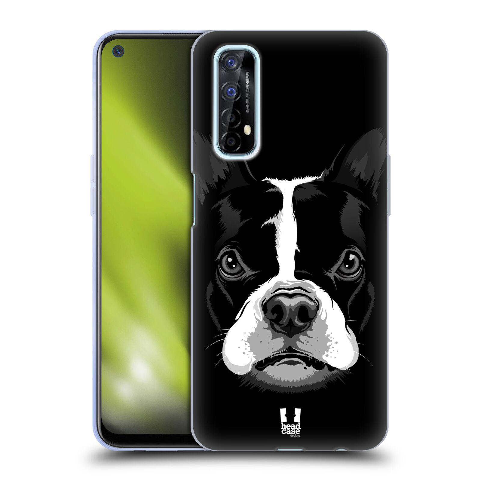 Silikonové pouzdro na mobil Realme 7 - Head Case - ILUSTROVANÝ BULDOČEK
