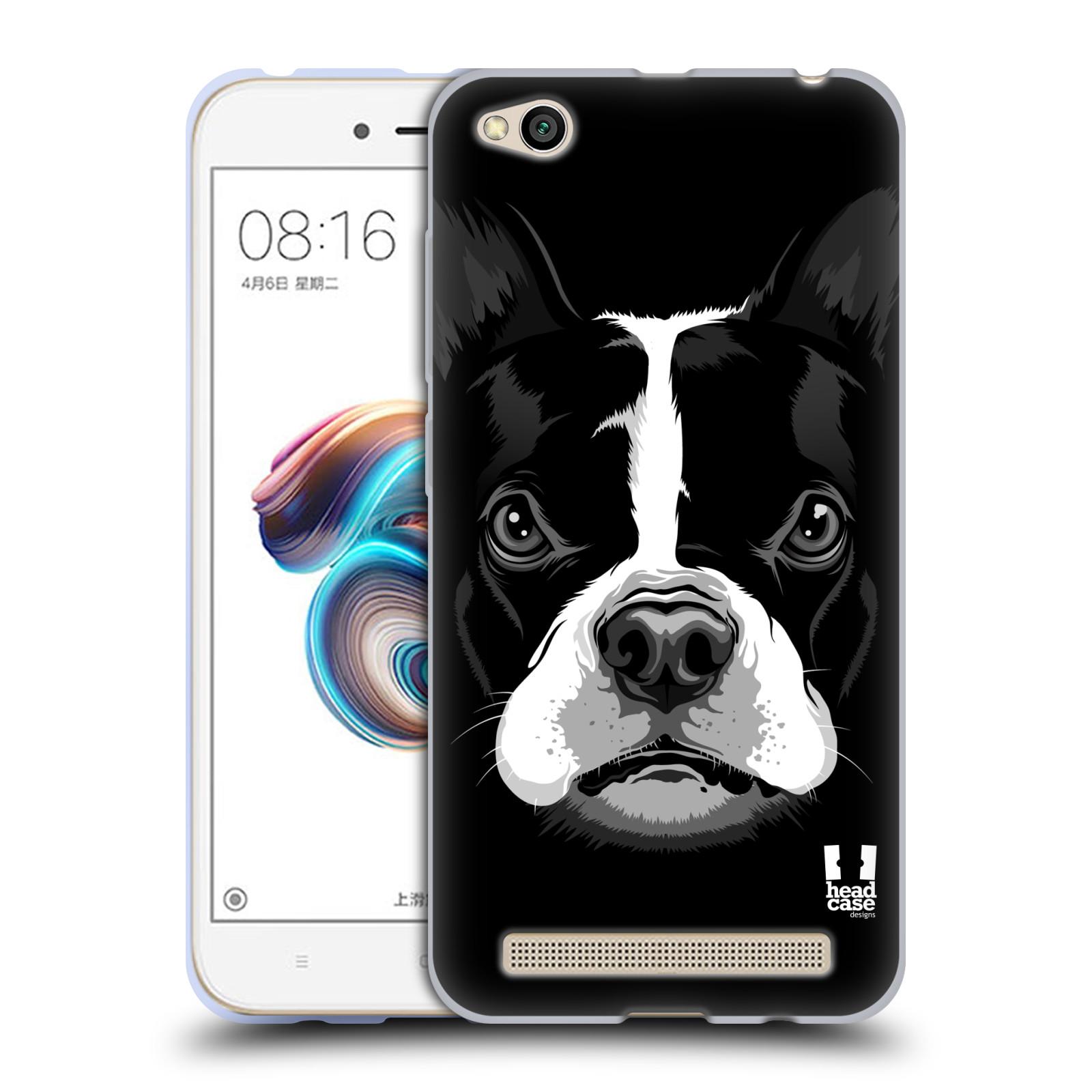Silikonové pouzdro na mobil Xiaomi Redmi 5A - Head Case - ILUSTROVANÝ BULDOČEK