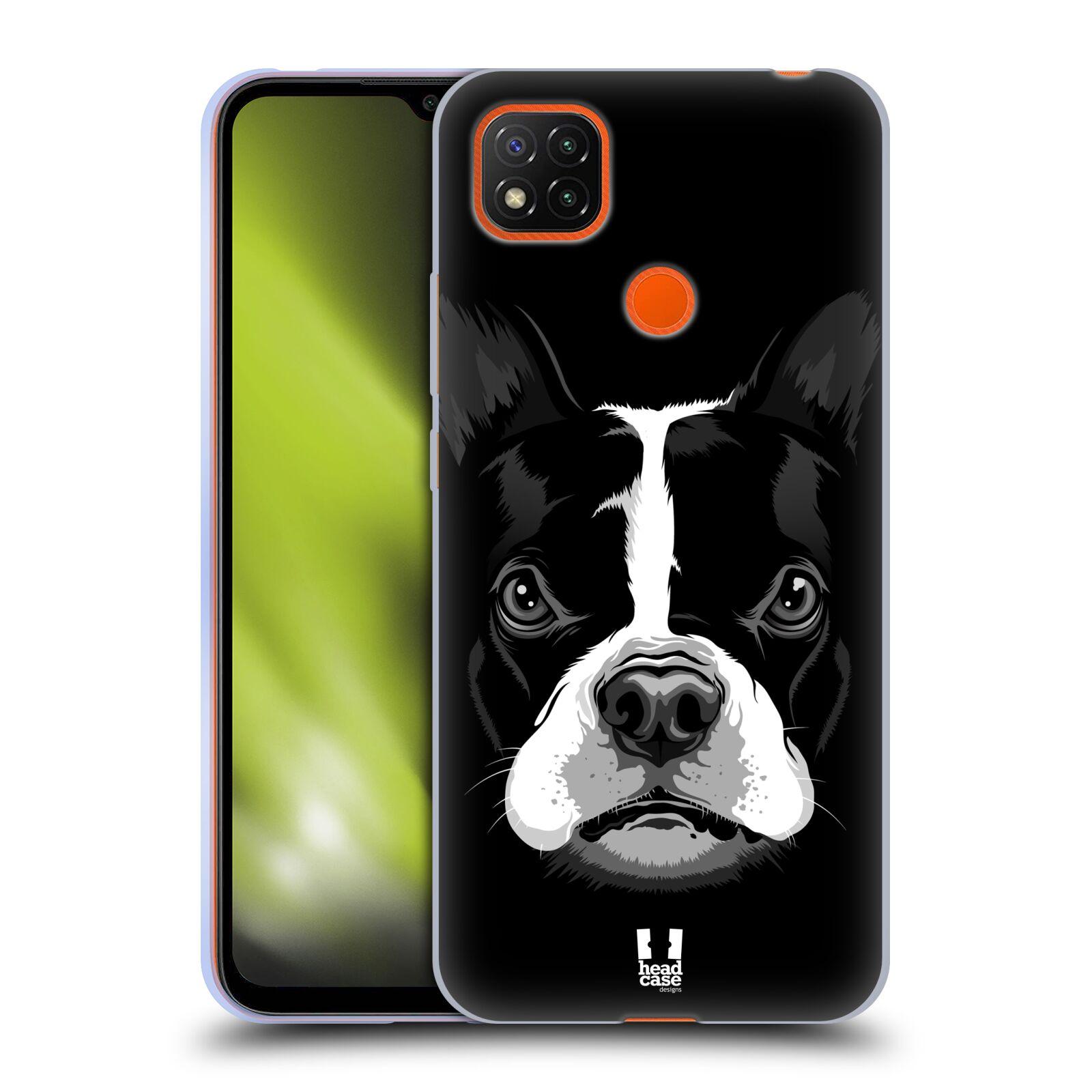Silikonové pouzdro na mobil Xiaomi Redmi 9C - Head Case - ILUSTROVANÝ BULDOČEK