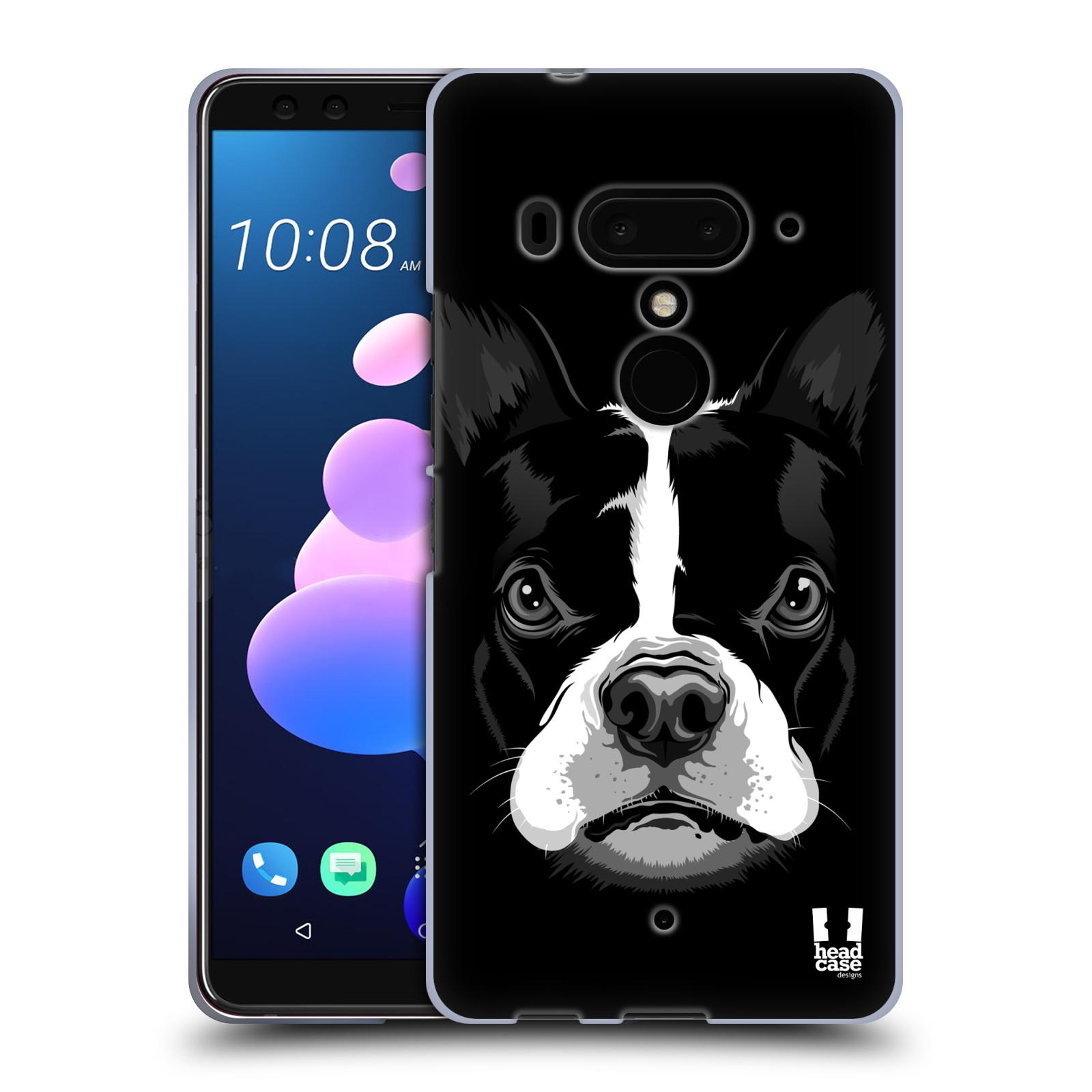 Silikonové pouzdro na mobil HTC U12 Plus - Head Case - ILUSTROVANÝ BULDOČEK