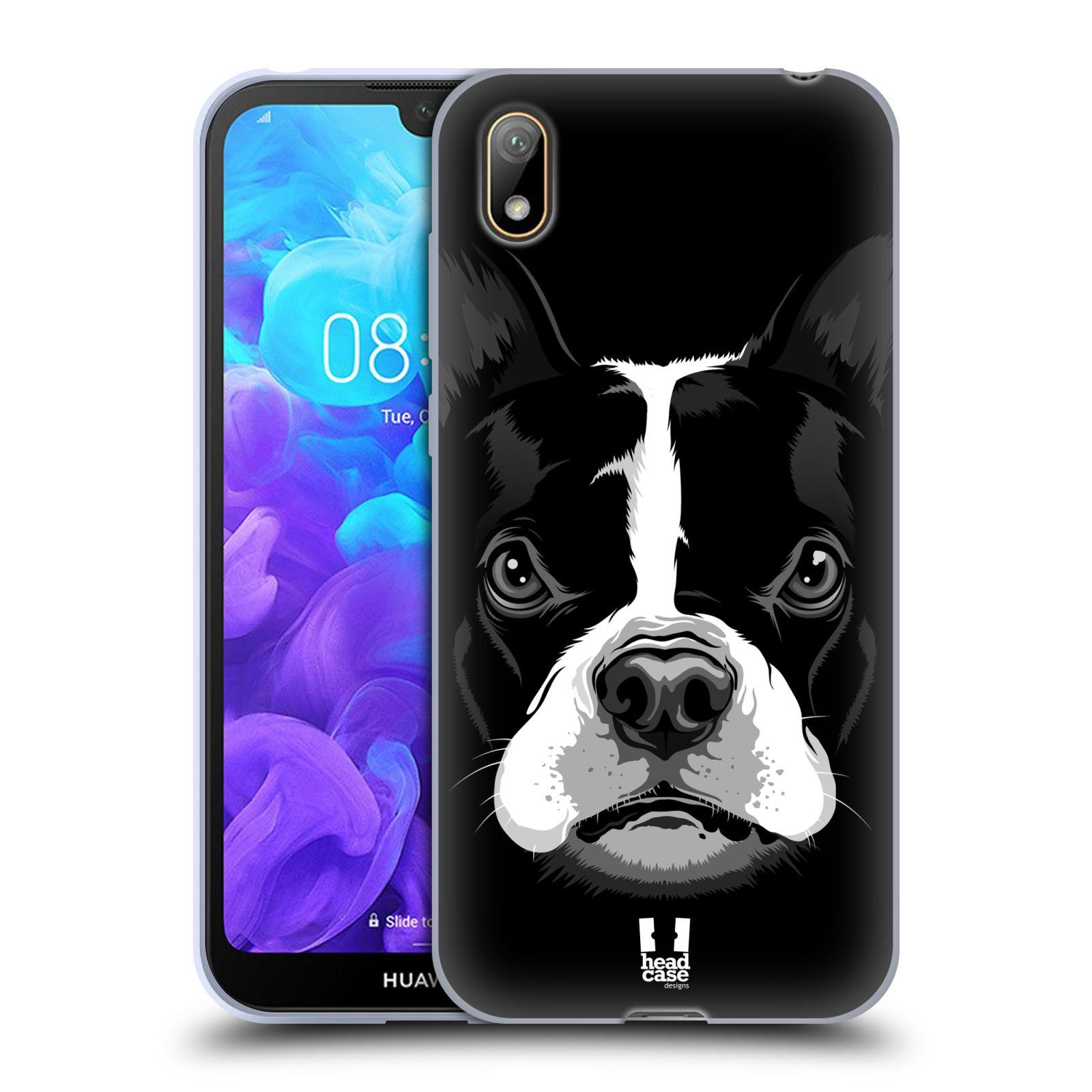 Silikonové pouzdro na mobil Huawei Y5 (2019) - Head Case - ILUSTROVANÝ BULDOČEK