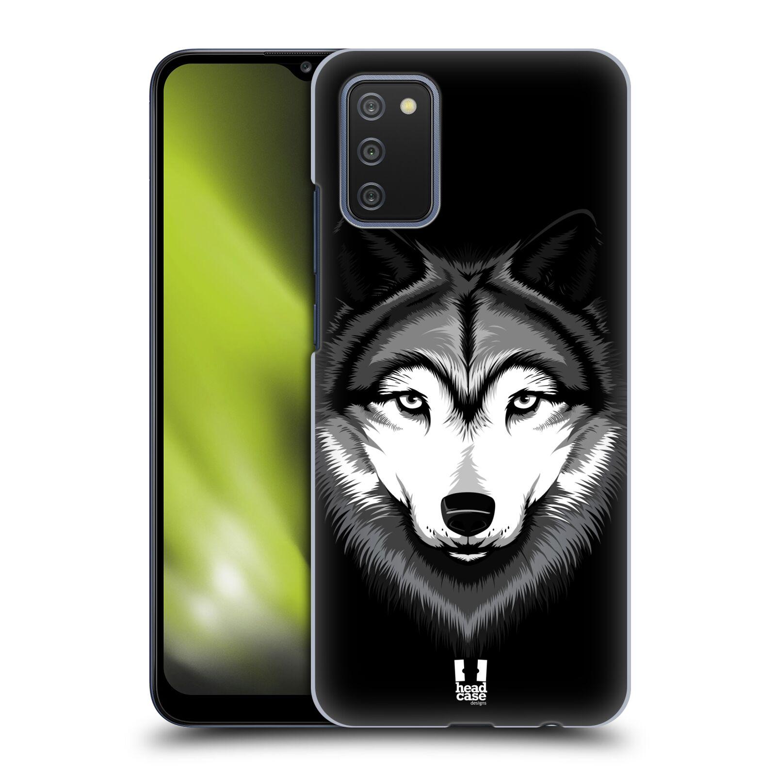 Plastové pouzdro na mobil Samsung Galaxy A02s - Head Case - ILUSTROVANÝ VLK