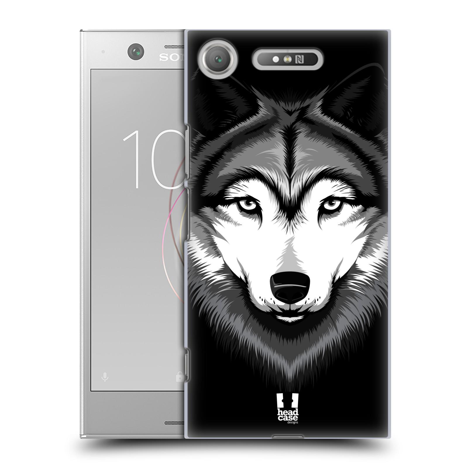 Plastové pouzdro na mobil Sony Xperia XZ1 - Head Case - ILUSTROVANÝ VLK
