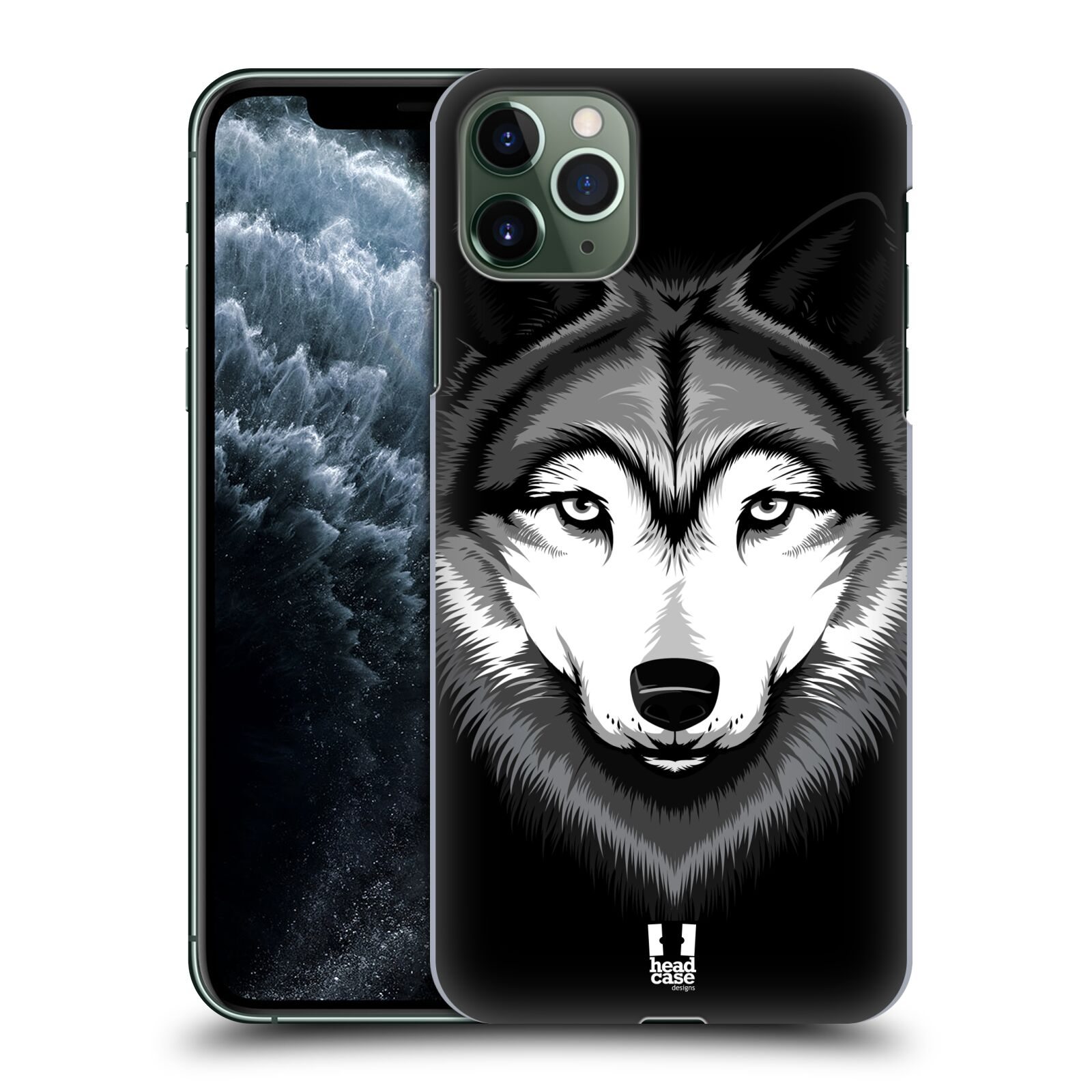 Plastové pouzdro na mobil Apple iPhone 11 Pro Max - Head Case - ILUSTROVANÝ VLK