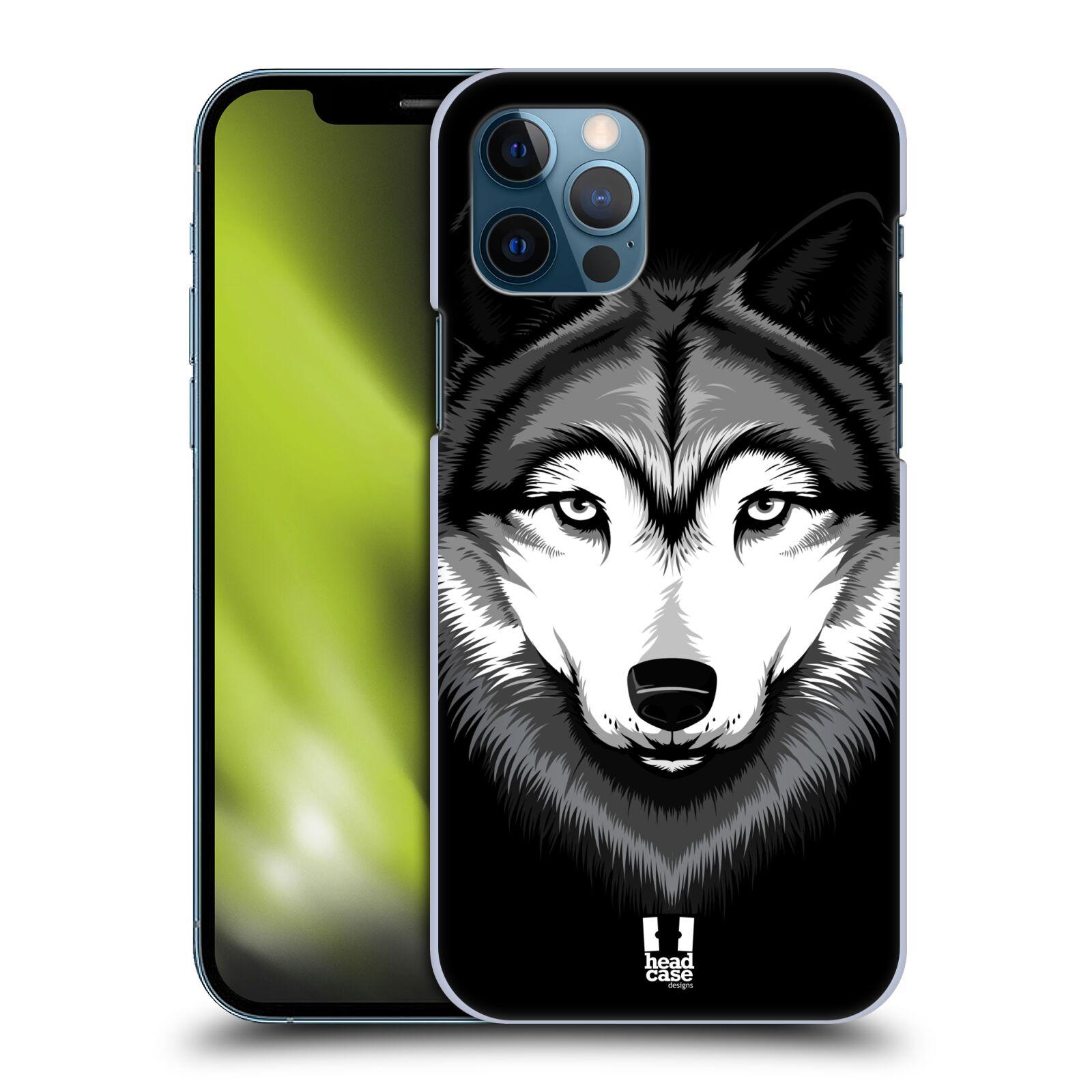 Plastové pouzdro na mobil Apple iPhone 12 / 12 Pro - Head Case - ILUSTROVANÝ VLK