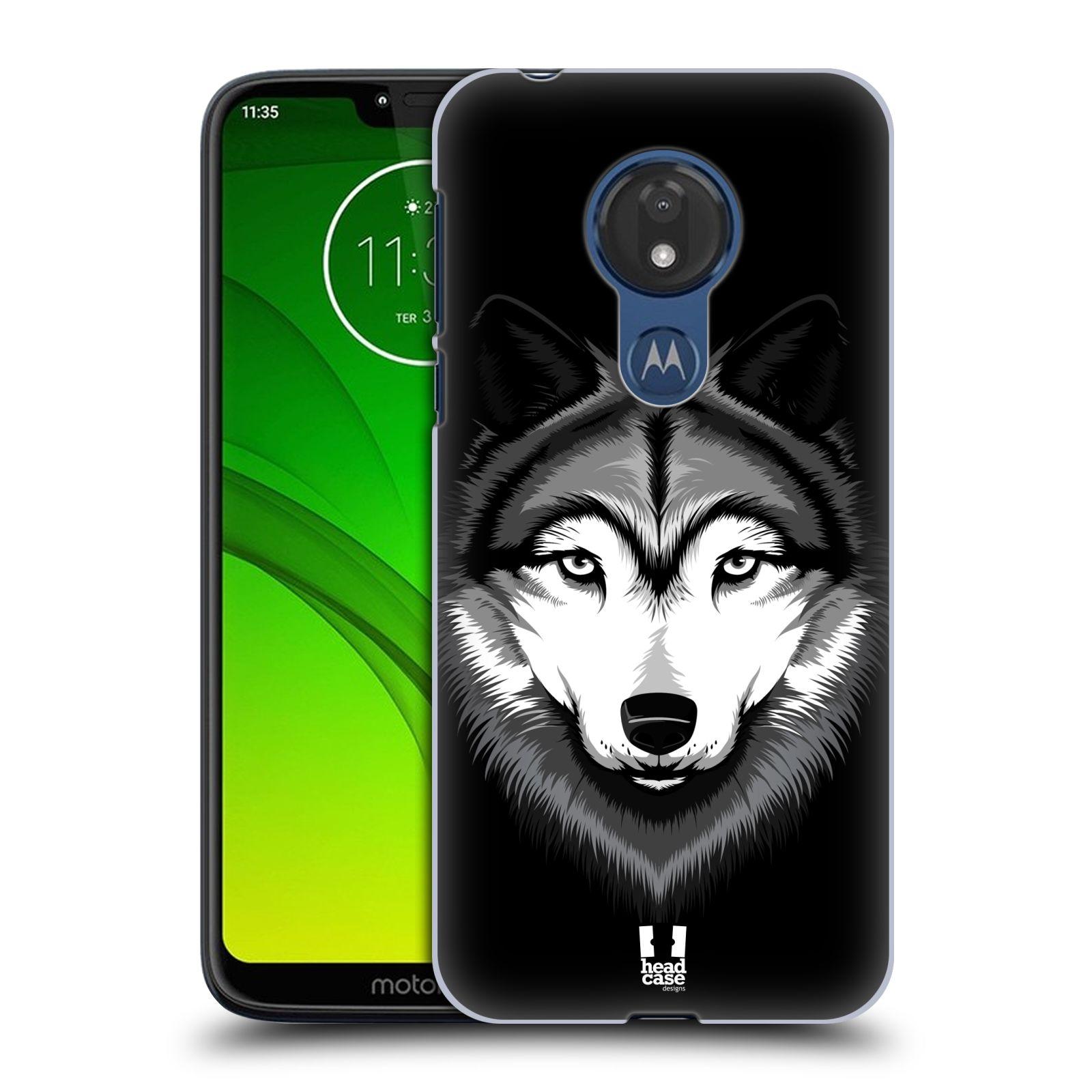 Plastové pouzdro na mobil Motorola Moto G7 Power - Head Case - ILUSTROVANÝ VLK