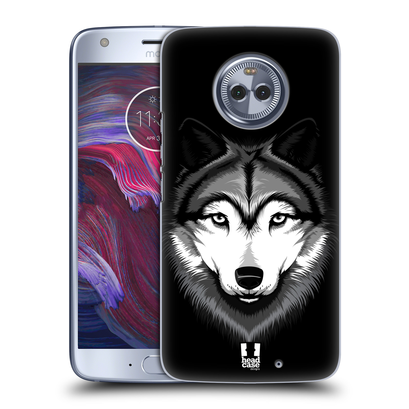 Plastové pouzdro na mobil Lenovo Moto X4 - Head Case - ILUSTROVANÝ VLK