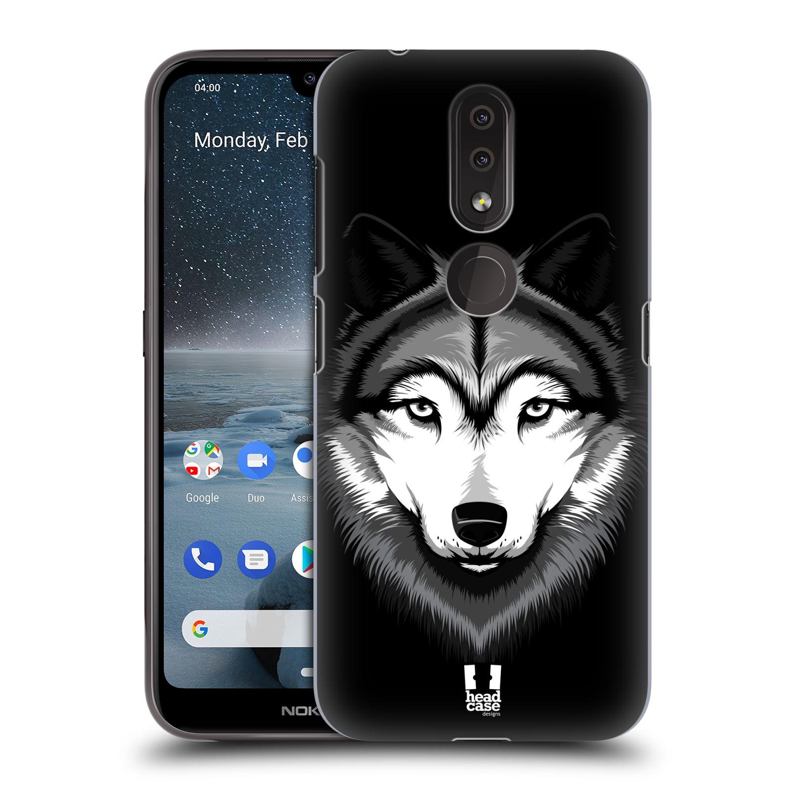 Plastové pouzdro na mobil Nokia 4.2 - Head Case - ILUSTROVANÝ VLK