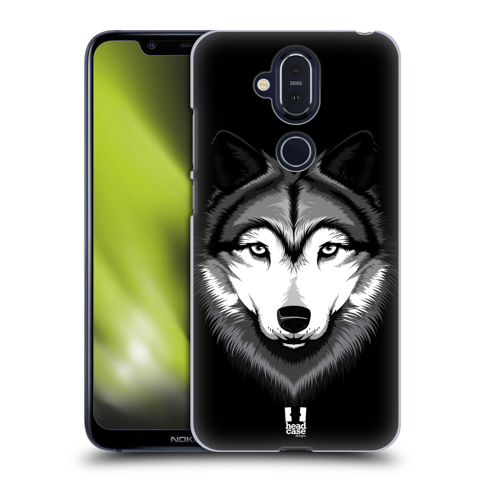 Plastové pouzdro na mobil Nokia 8.1 - Head Case - ILUSTROVANÝ VLK