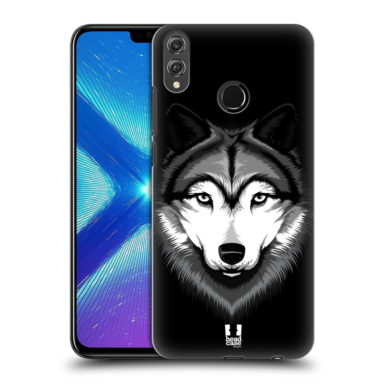 Plastové pouzdro na mobil Honor 8X - Head Case - ILUSTROVANÝ VLK