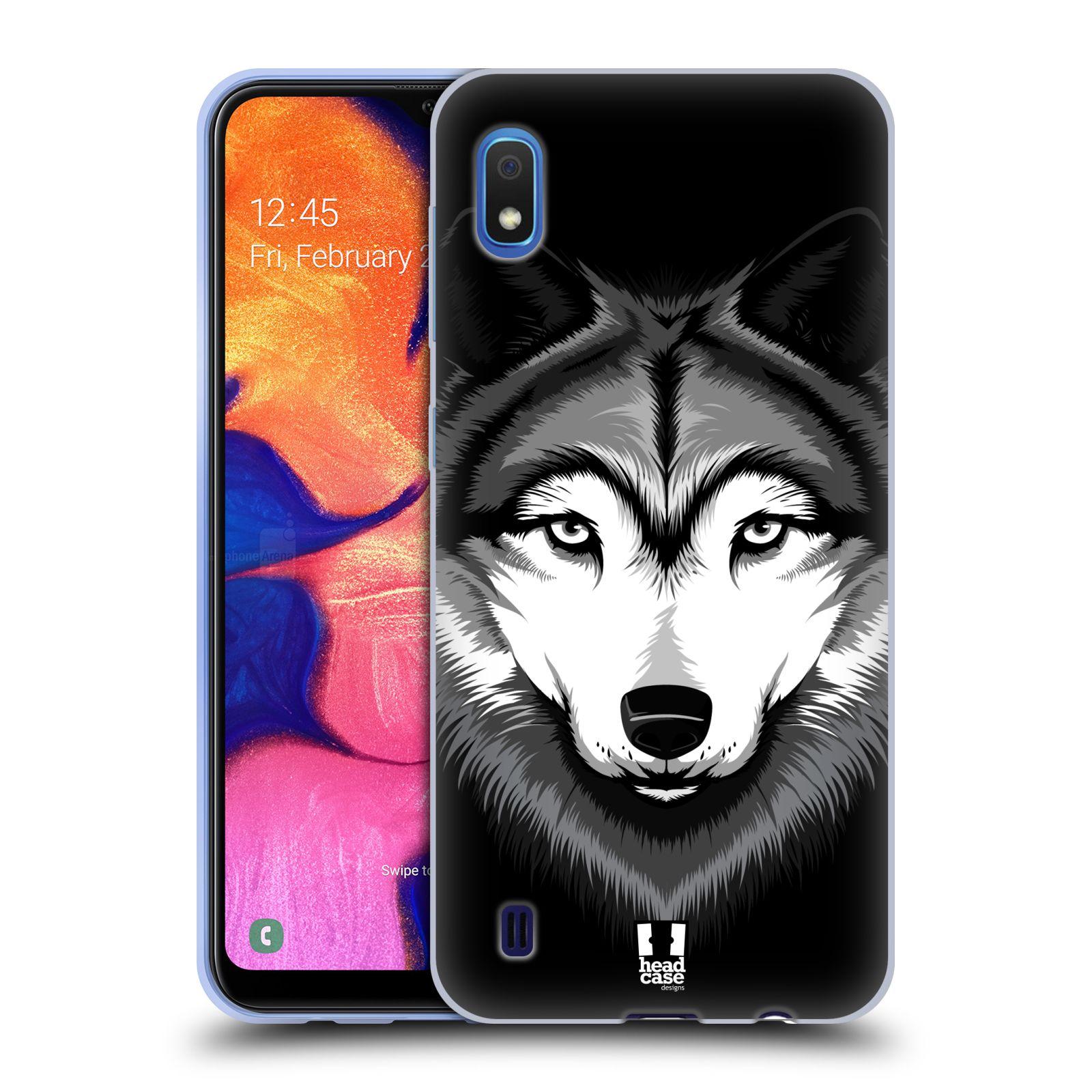 Silikonové pouzdro na mobil Samsung Galaxy A10 - Head Case - ILUSTROVANÝ VLK