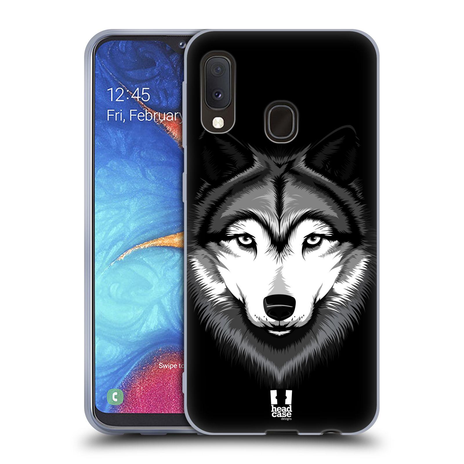 Silikonové pouzdro na mobil Samsung Galaxy A20e - Head Case - ILUSTROVANÝ VLK
