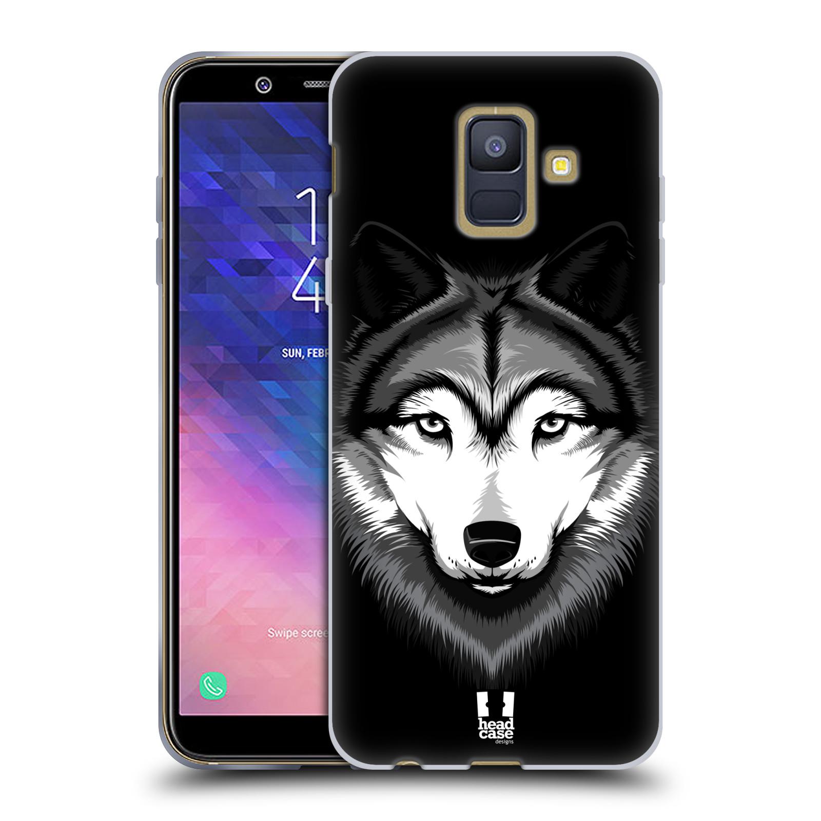 Silikonové pouzdro na mobil Samsung Galaxy A6 (2018) - Head Case - ILUSTROVANÝ VLK