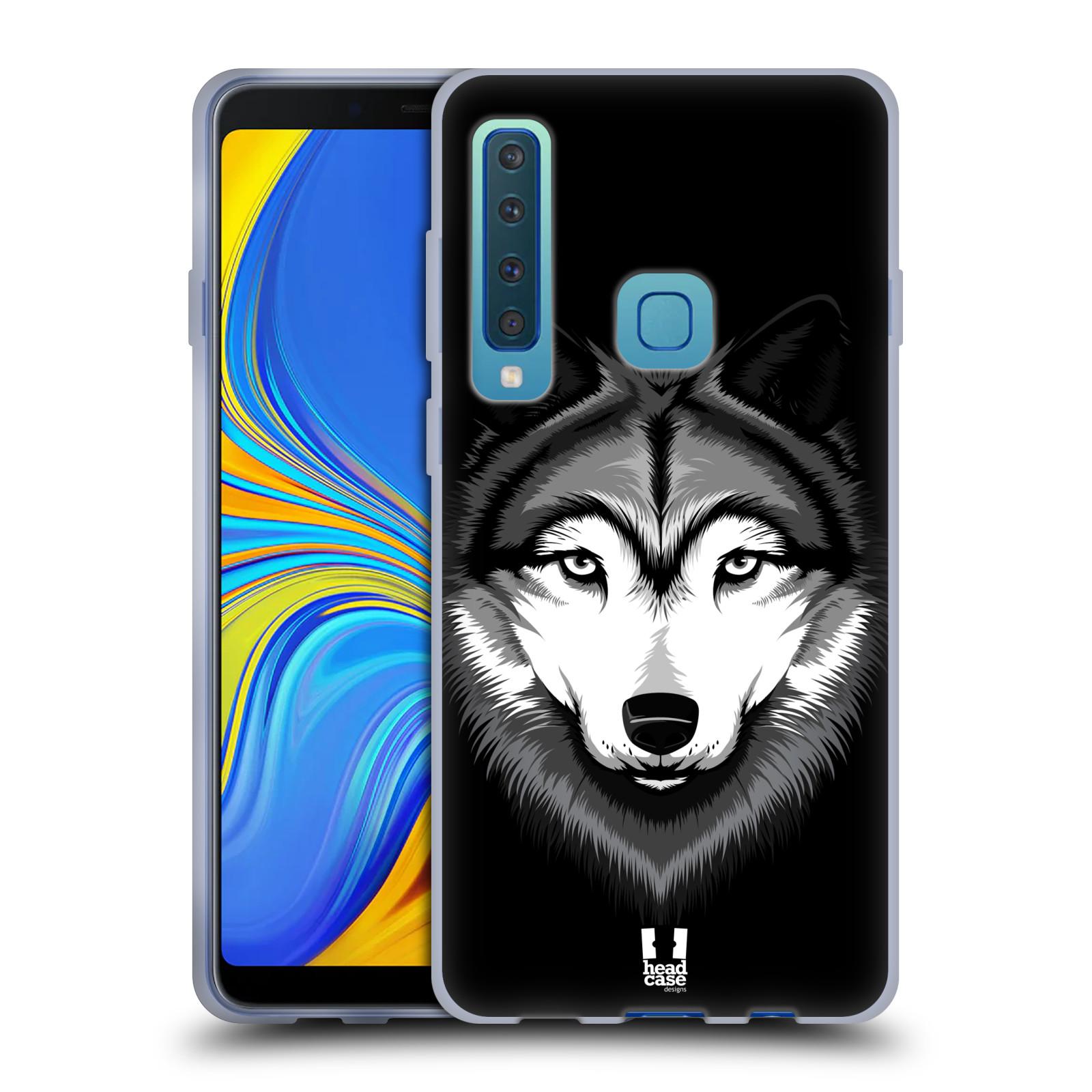 Silikonové pouzdro na mobil Samsung Galaxy A9 (2018) - Head Case - ILUSTROVANÝ VLK