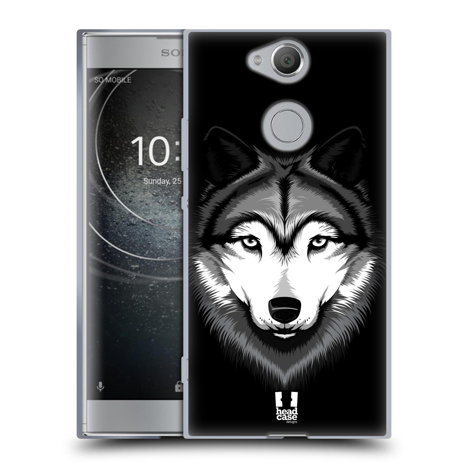Silikonové pouzdro na mobil Sony Xperia XA2 - Head Case - ILUSTROVANÝ VLK