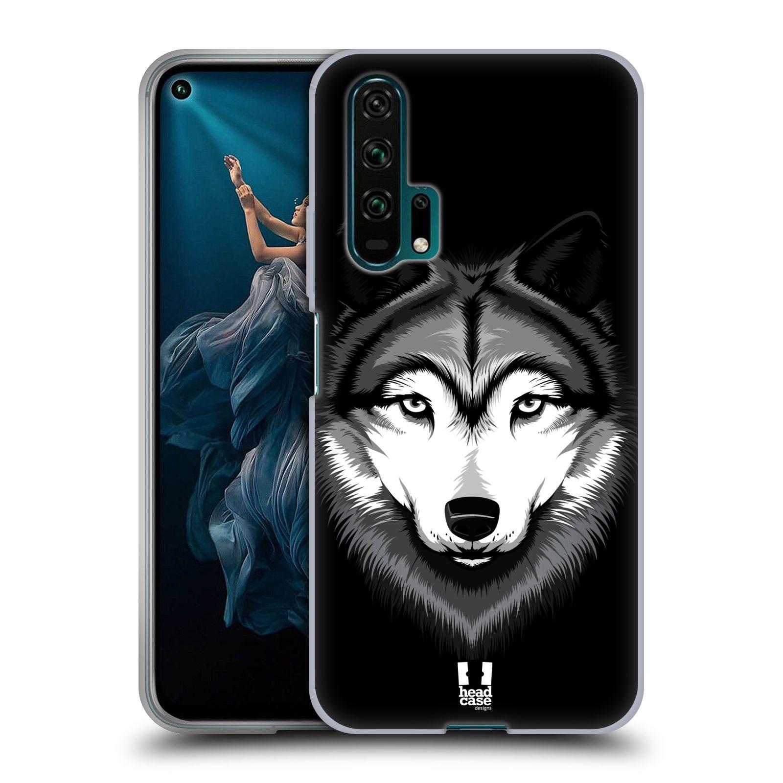 Silikonové pouzdro na mobil Honor 20 Pro - Head Case - ILUSTROVANÝ VLK