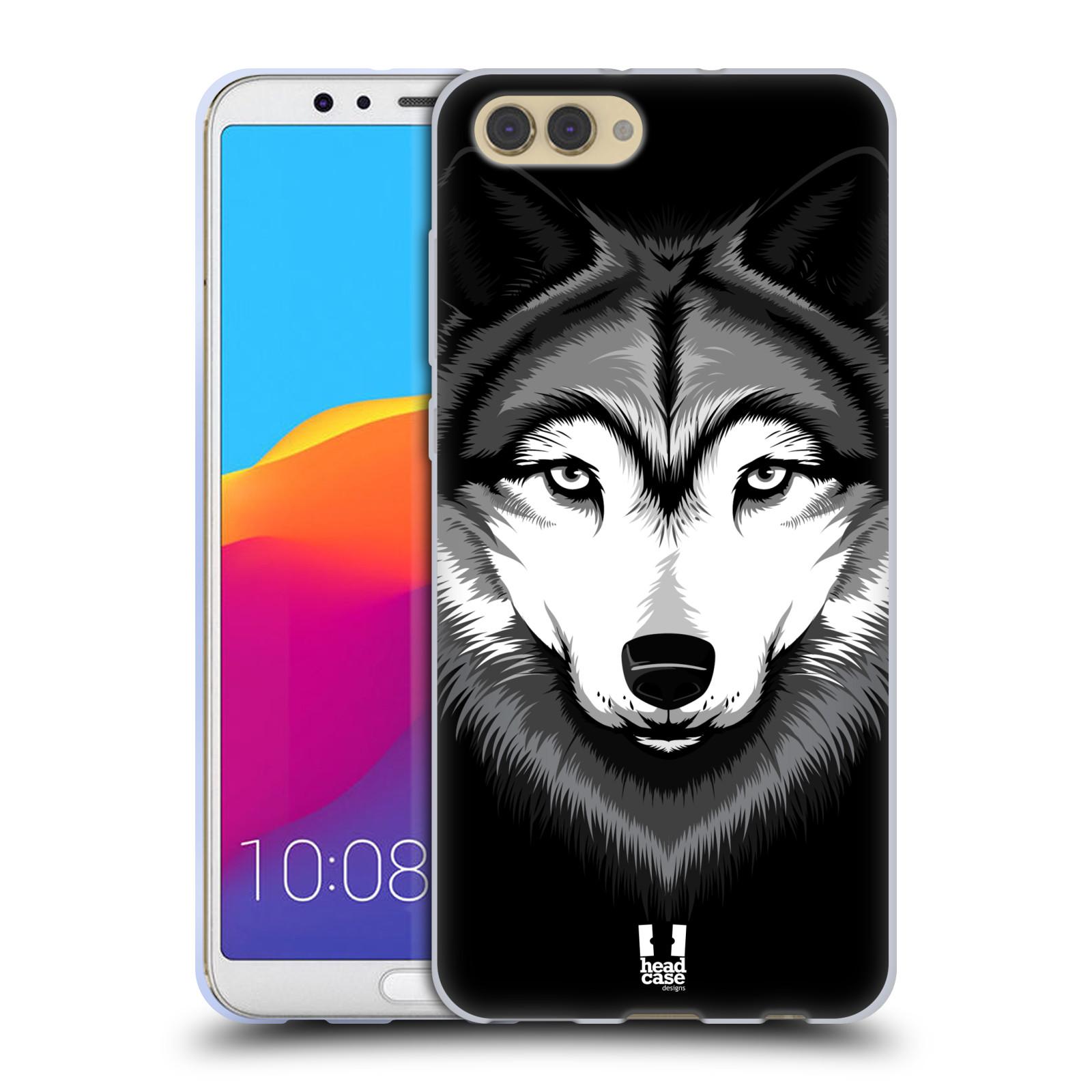 Silikonové pouzdro na mobil Honor View 10 - Head Case - ILUSTROVANÝ VLK