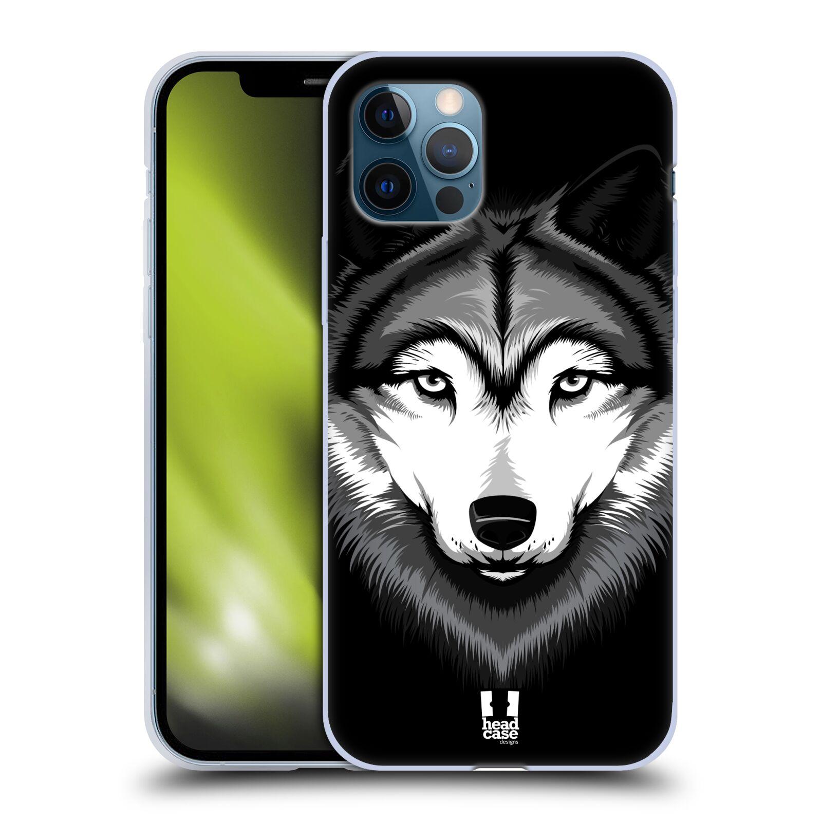 Silikonové pouzdro na mobil Apple iPhone 12 / 12 Pro - Head Case - ILUSTROVANÝ VLK