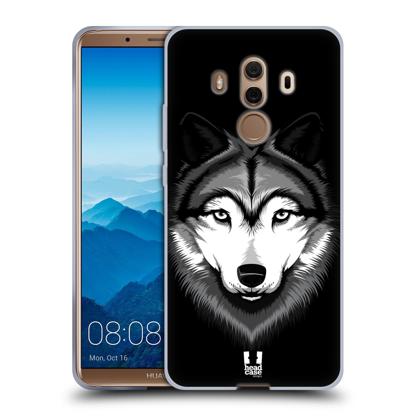 Silikonové pouzdro na mobil Huawei Mate 10 Pro - Head Case - ILUSTROVANÝ VLK (Silikonový kryt či obal na mobilní telefon Huawei Mate 10 Pro s motivem ILUSTROVANÝ VLK)