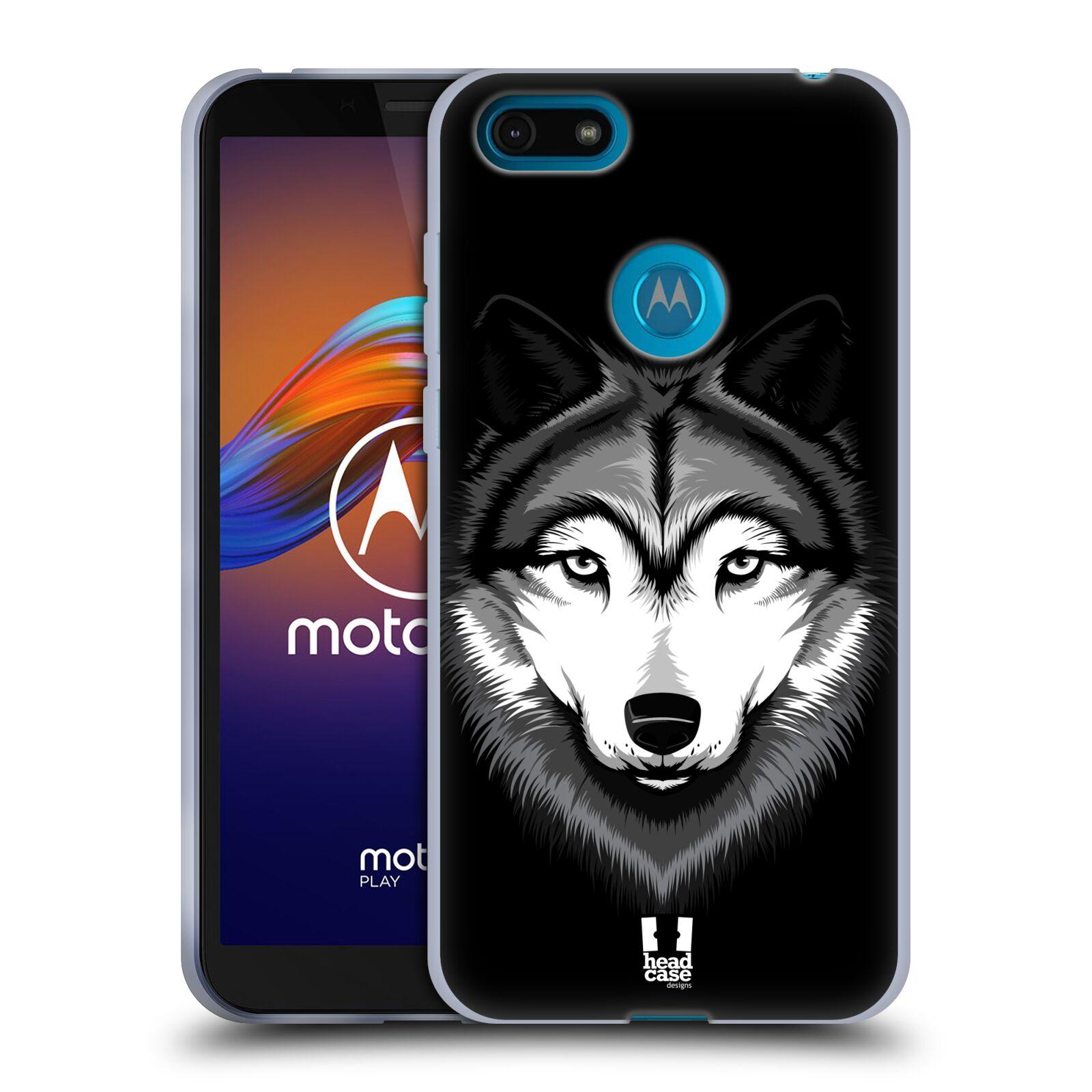 Silikonové pouzdro na mobil Motorola Moto E6 Play - Head Case - ILUSTROVANÝ VLK